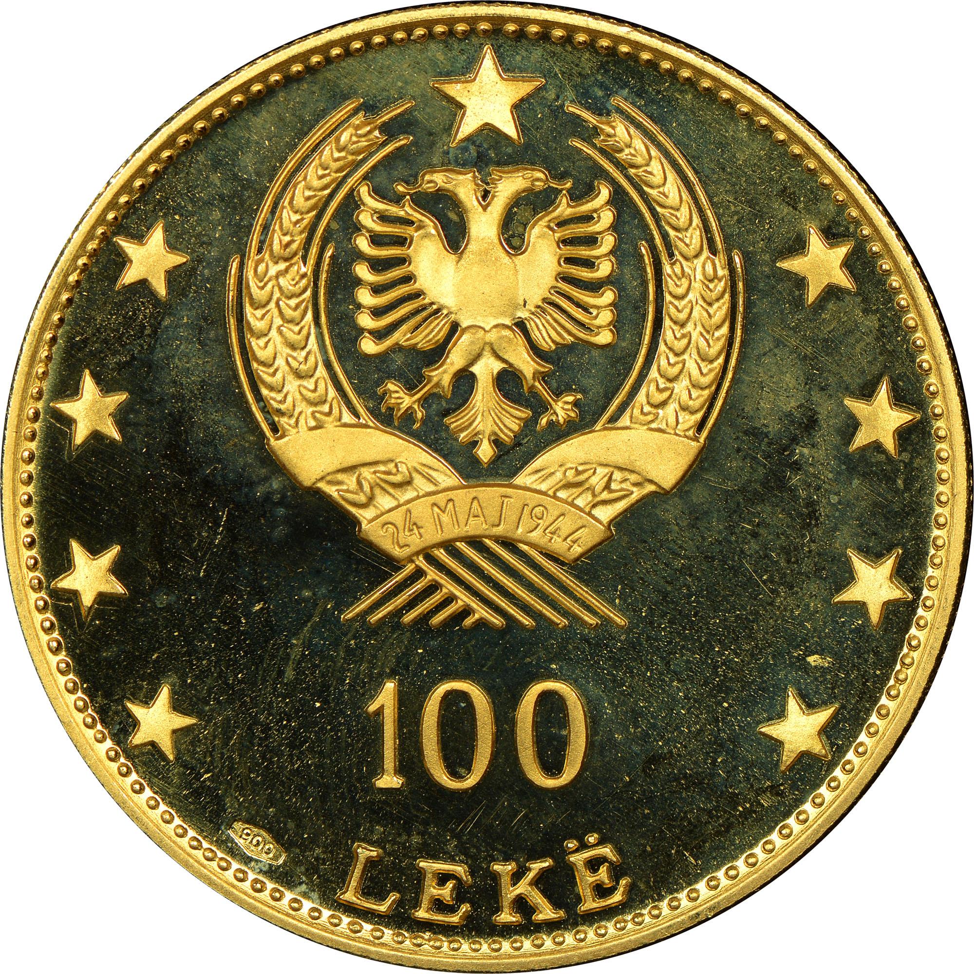 1968 Albania 100 Leke reverse