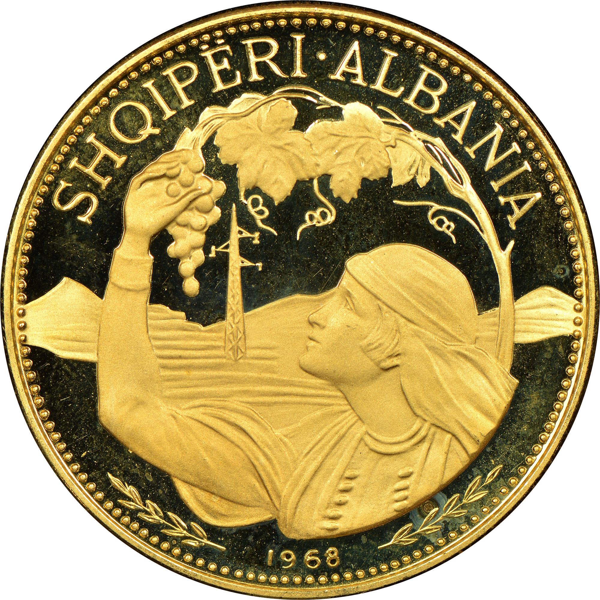 1968 Albania 100 Leke obverse