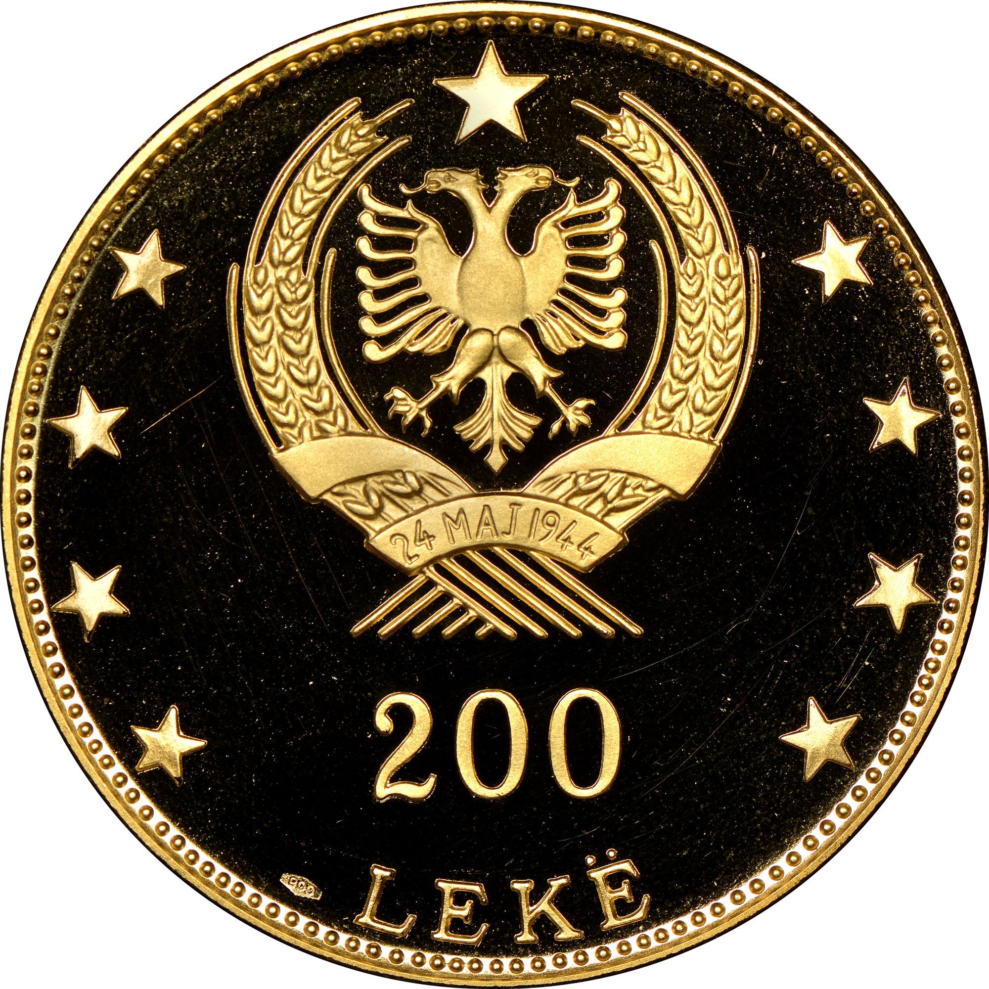 1968 Albania 200 Leke reverse