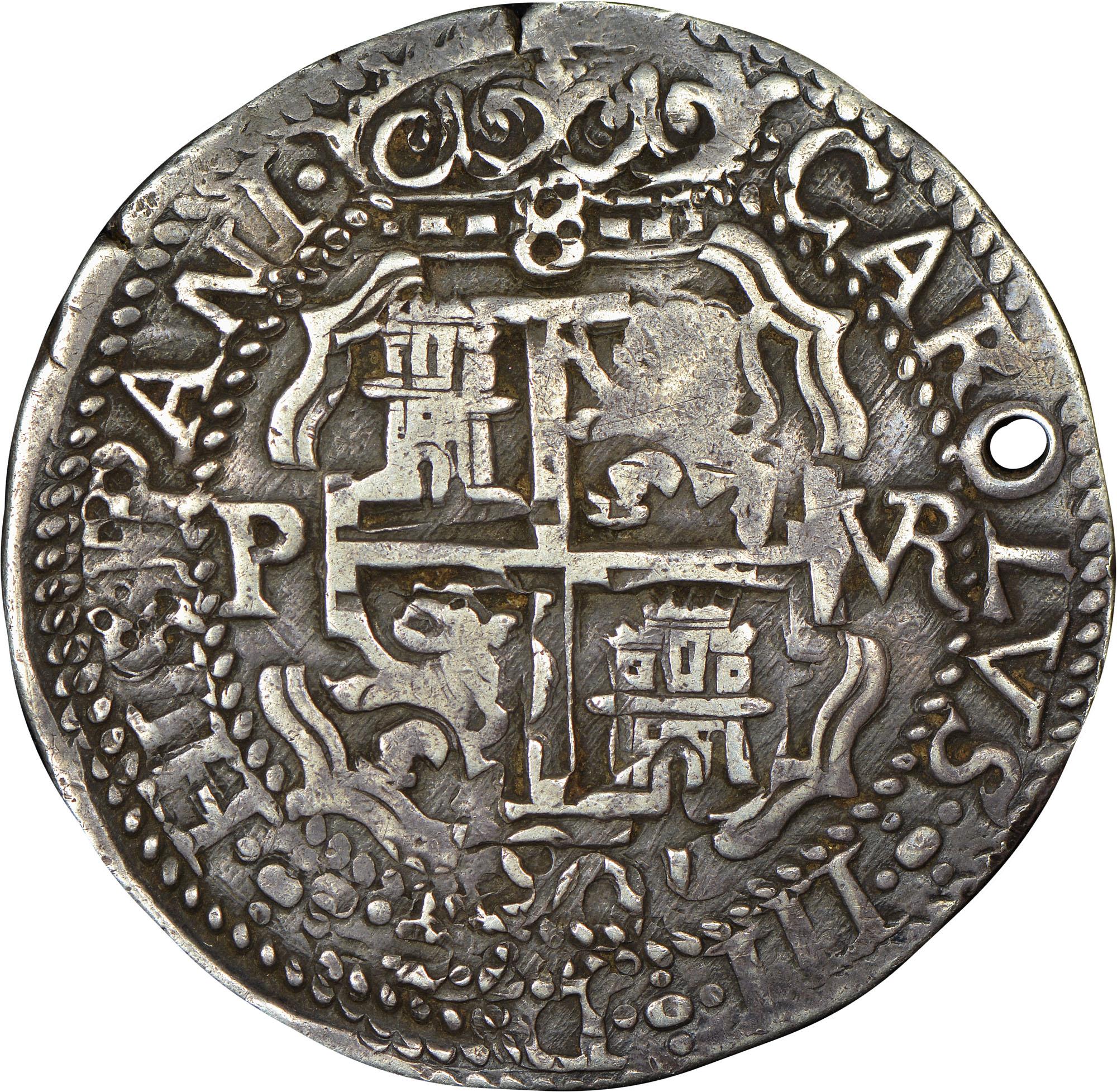 1667-1701 Bolivia 8 Reales reverse