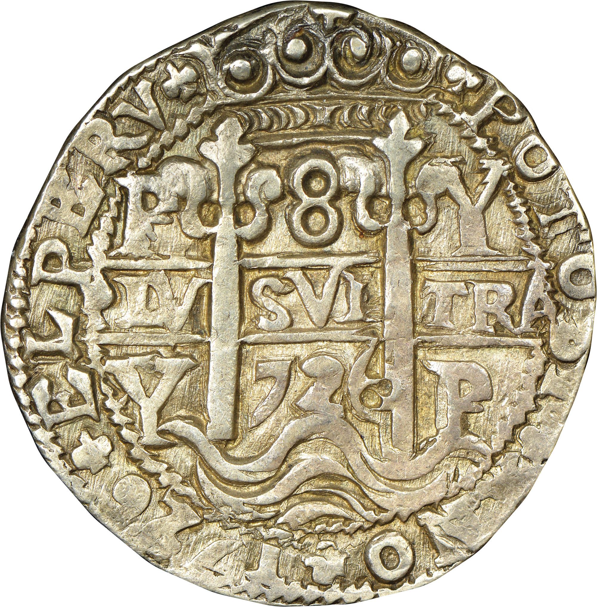 1725-1727 Bolivia 8 Reales reverse