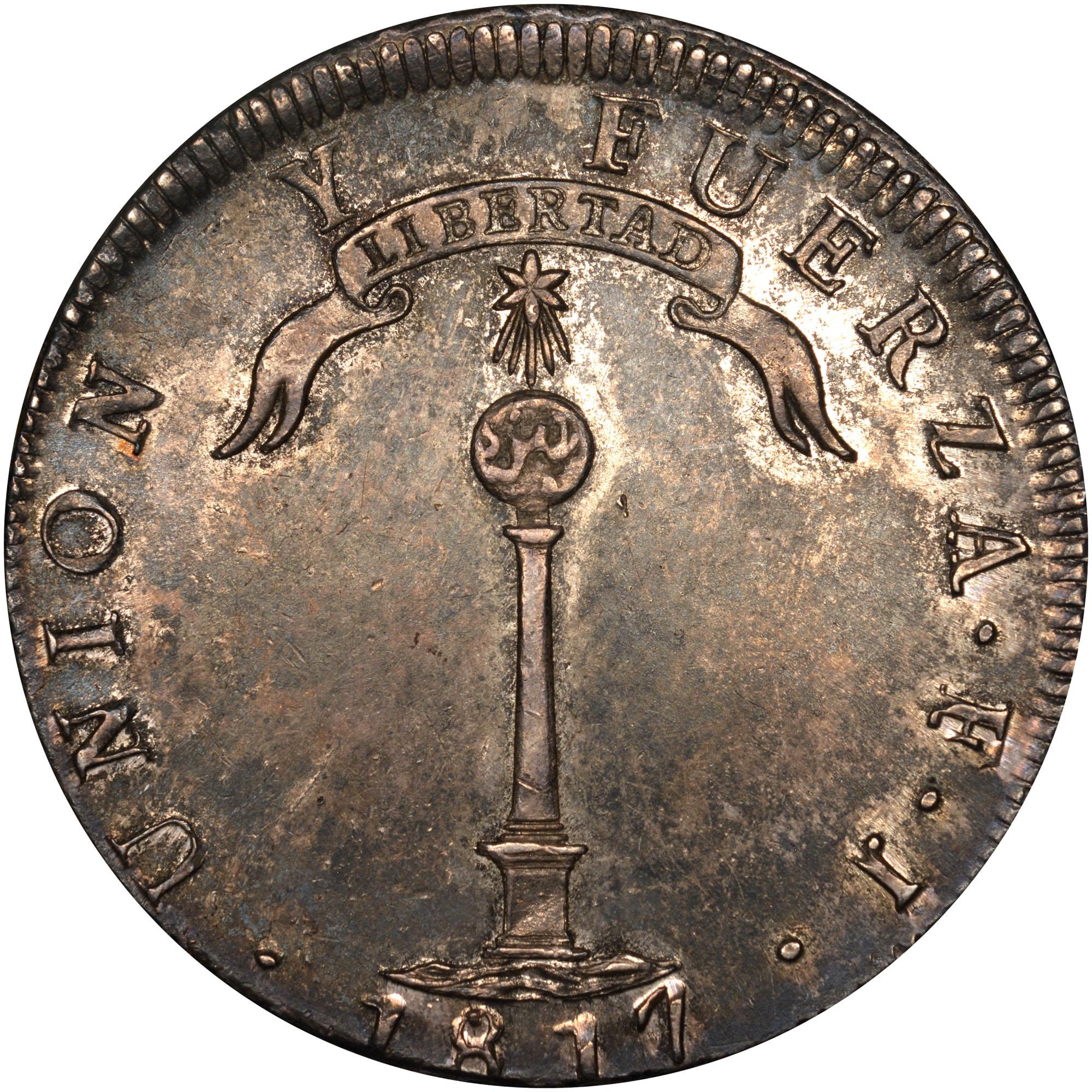 1817-1834 Chile Peso reverse