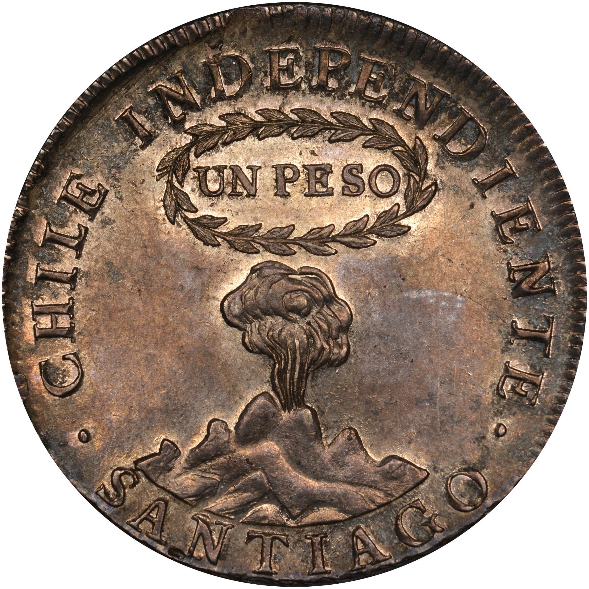 1817-1834 Chile Peso obverse