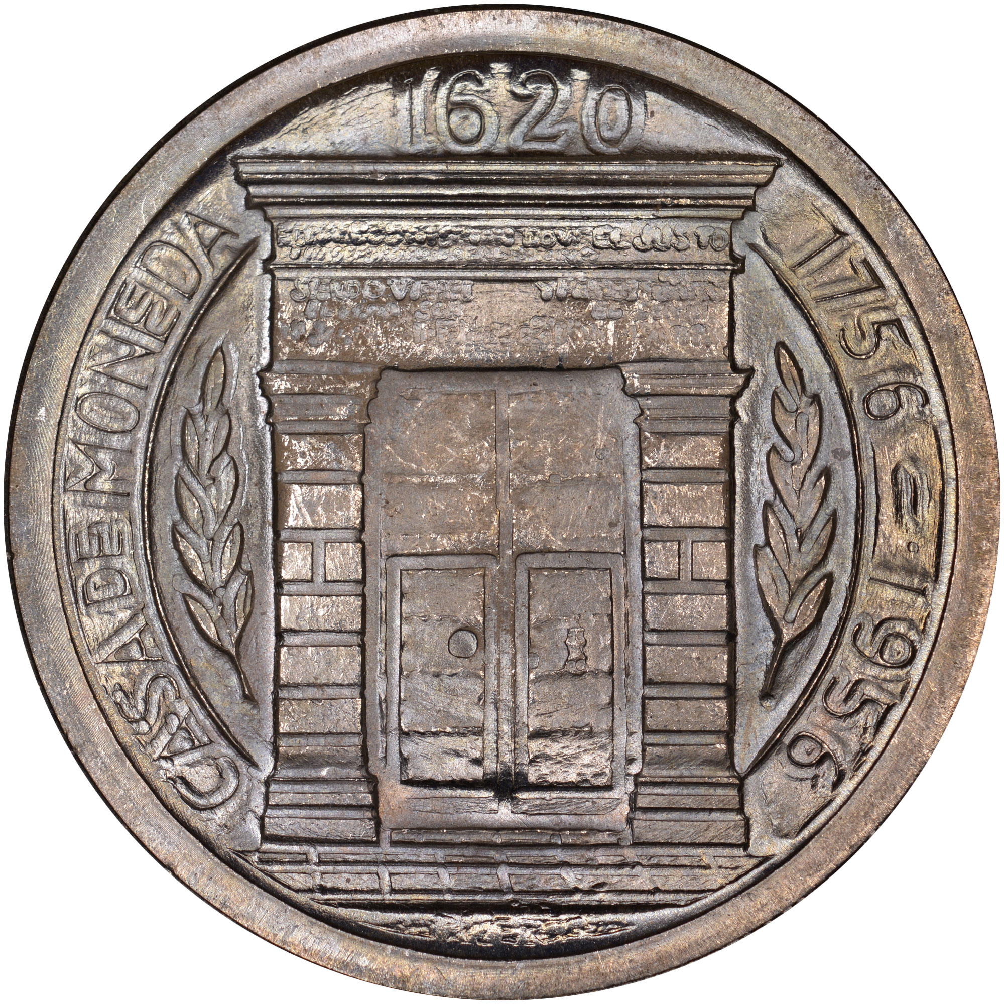 (1956) Colombia Peso reverse