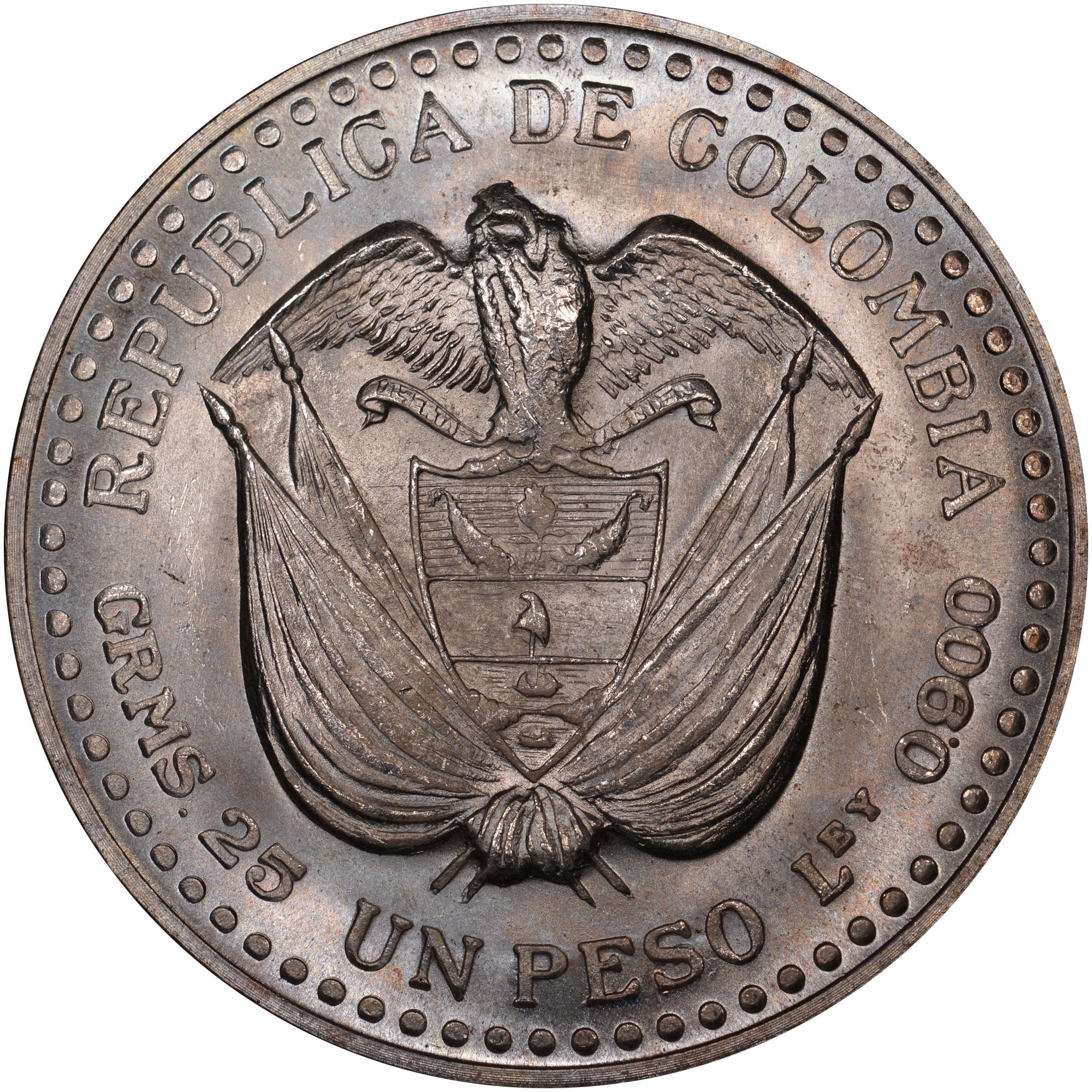 (1956) Colombia Peso obverse