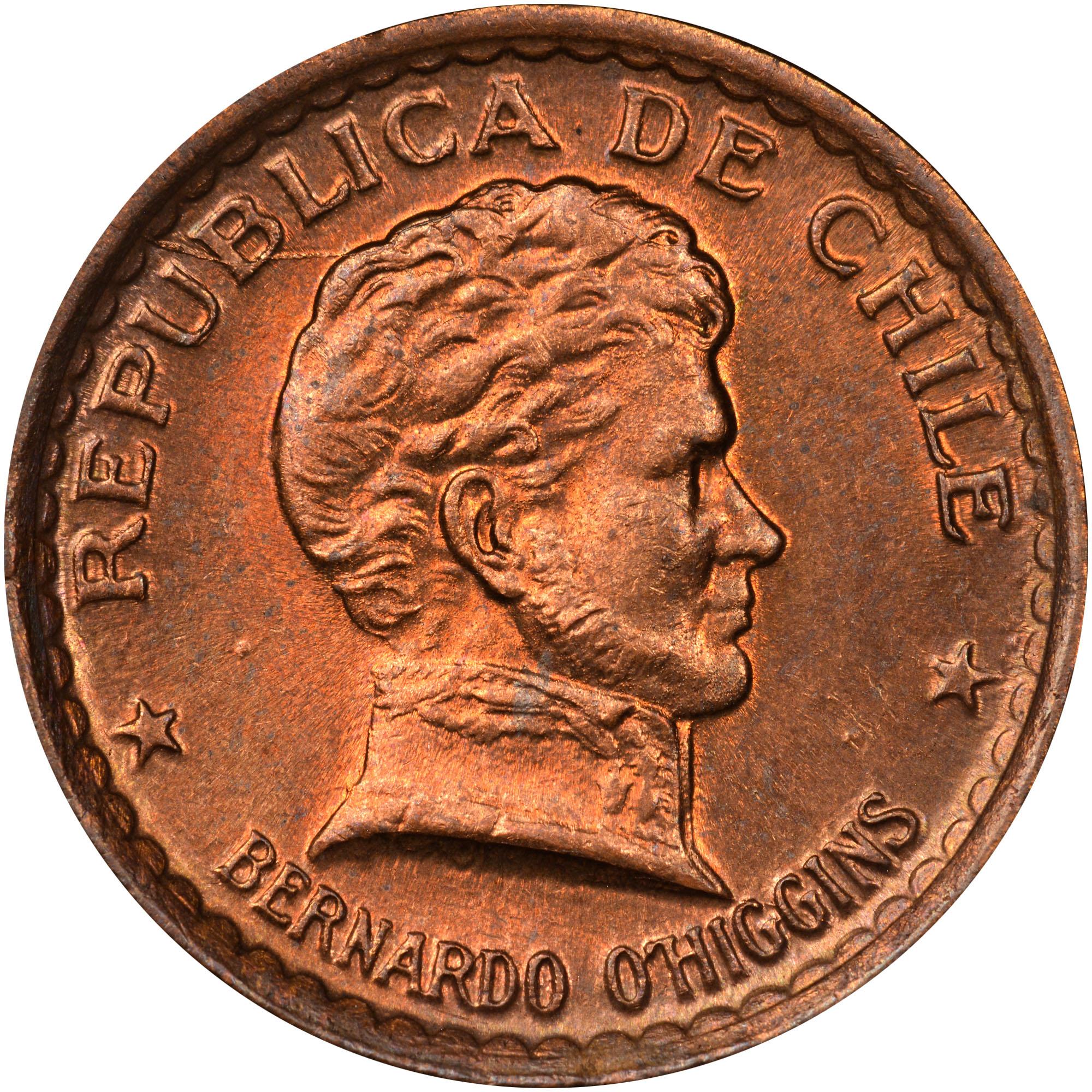 Chile 20 Centavos obverse