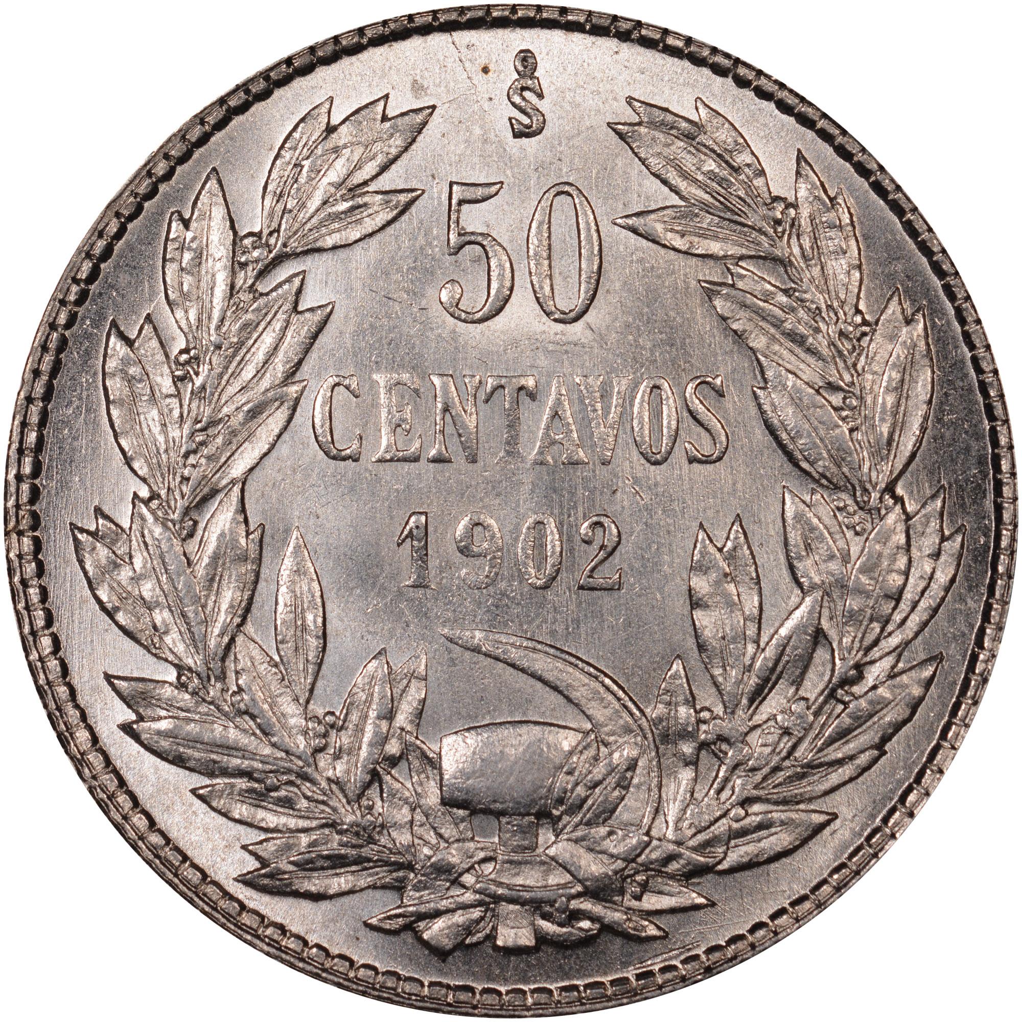 Chile 50 Centavos reverse