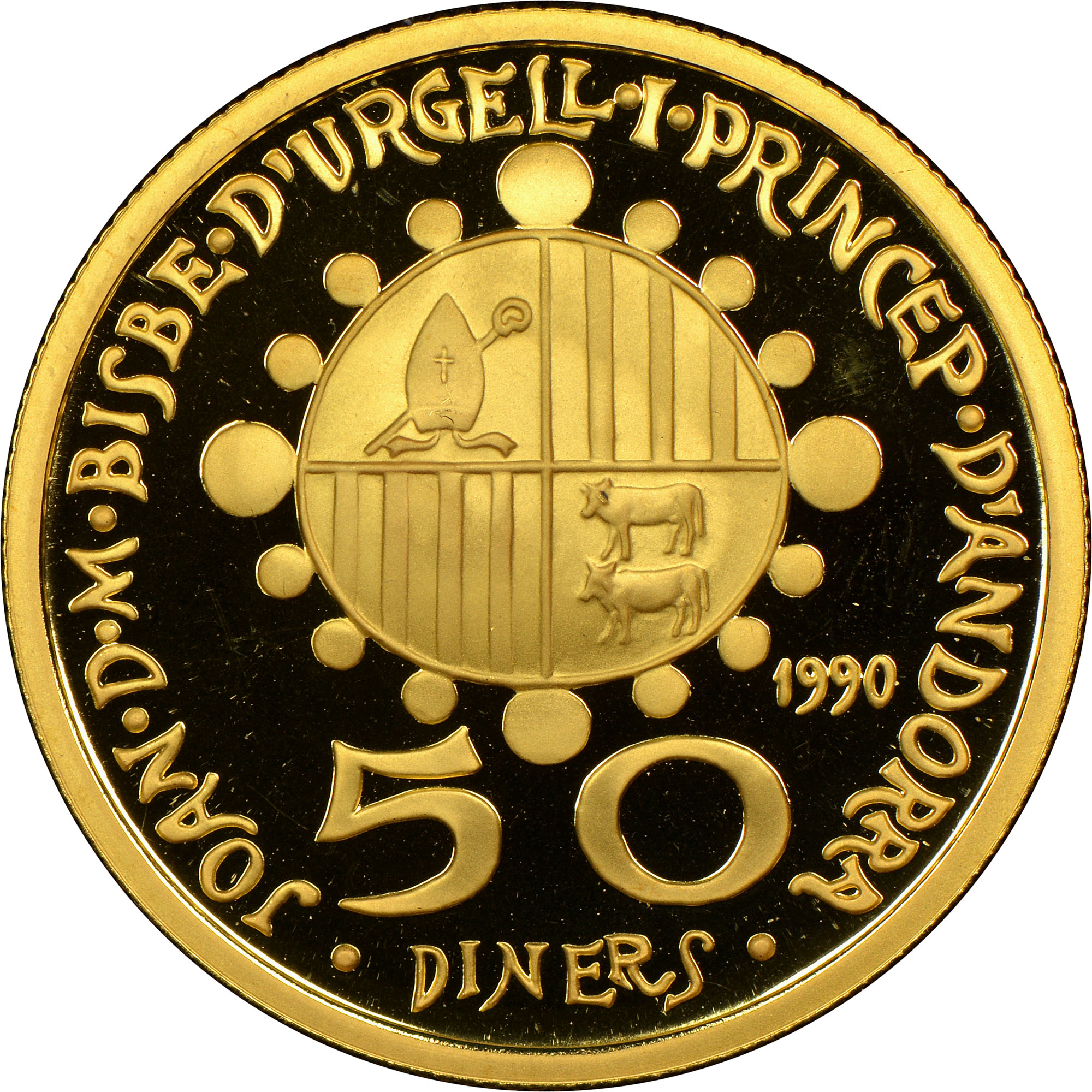 1990 Andorra 50 Diners obverse
