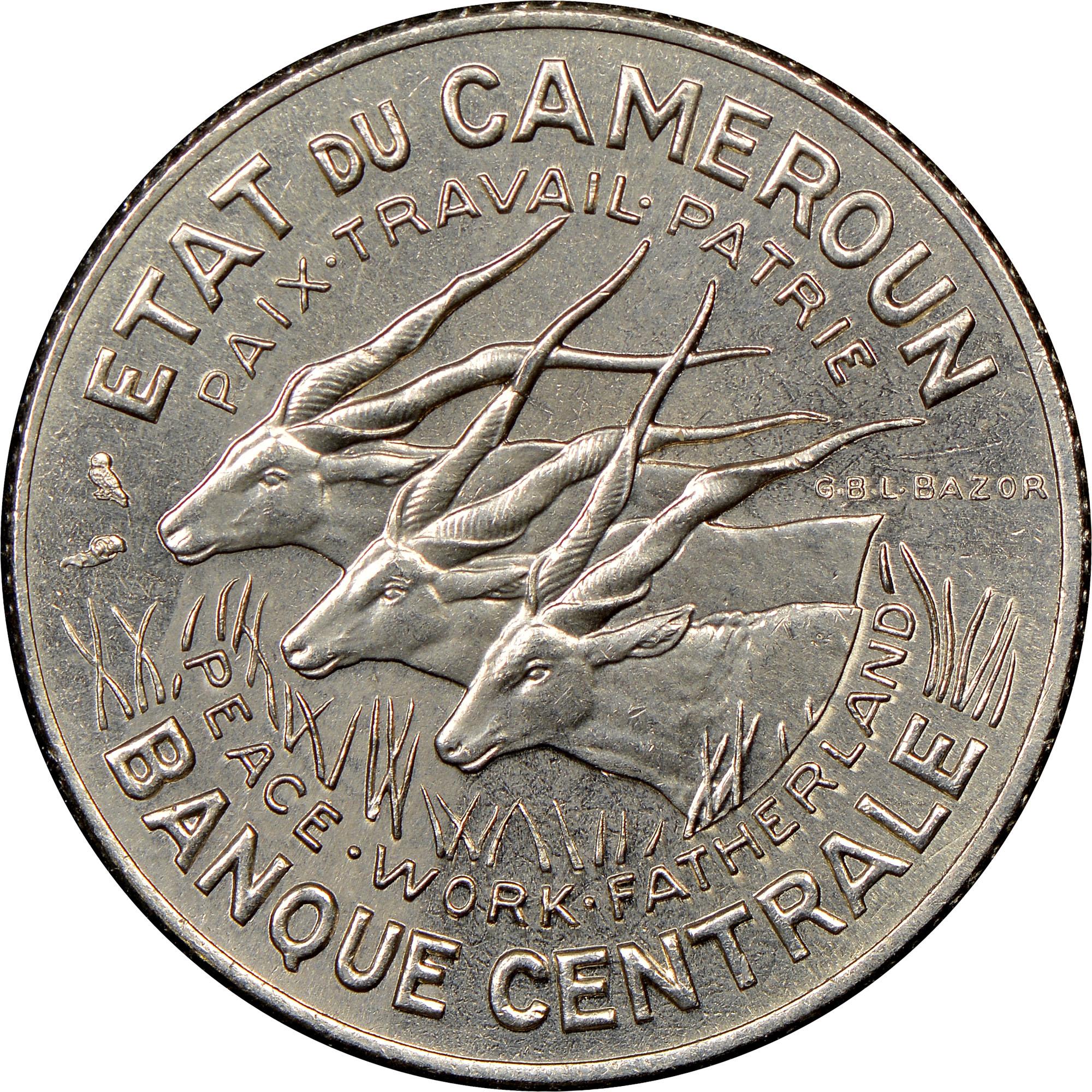 Cameroon 100 Francs obverse