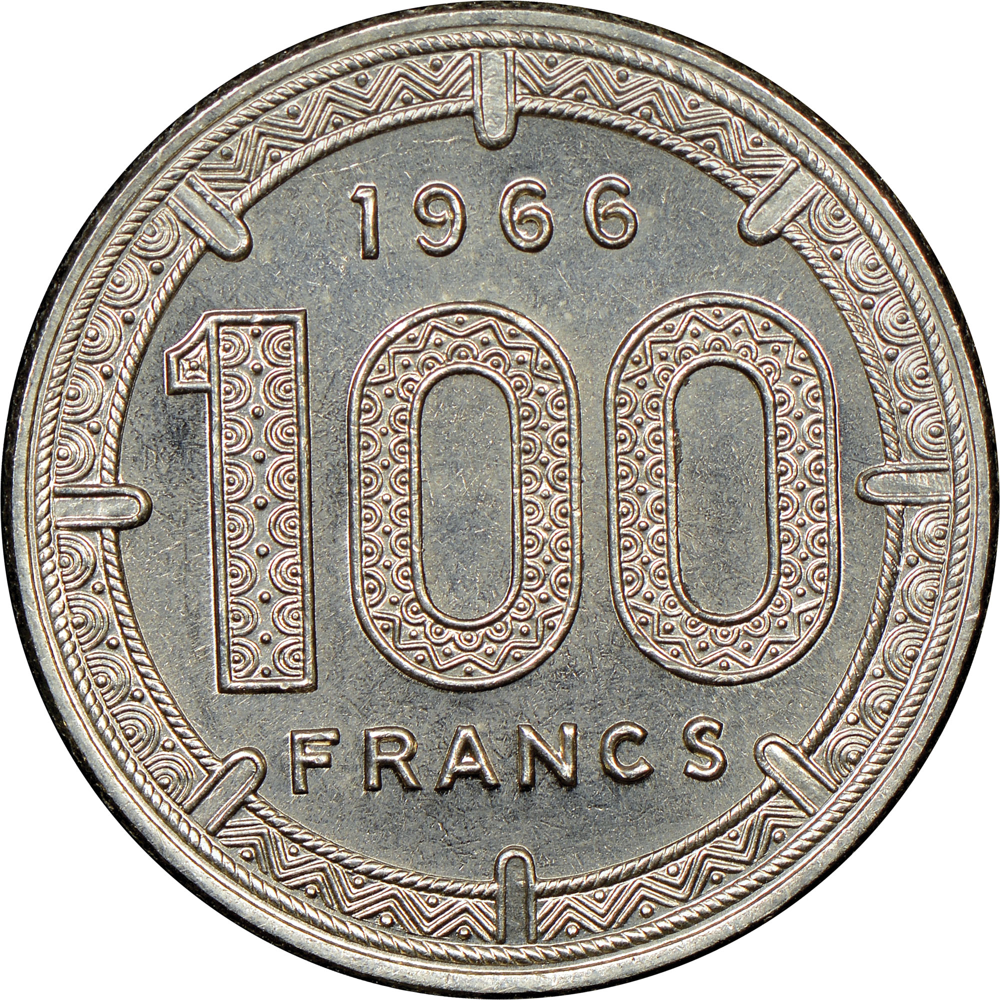 Cameroon 100 Francs reverse