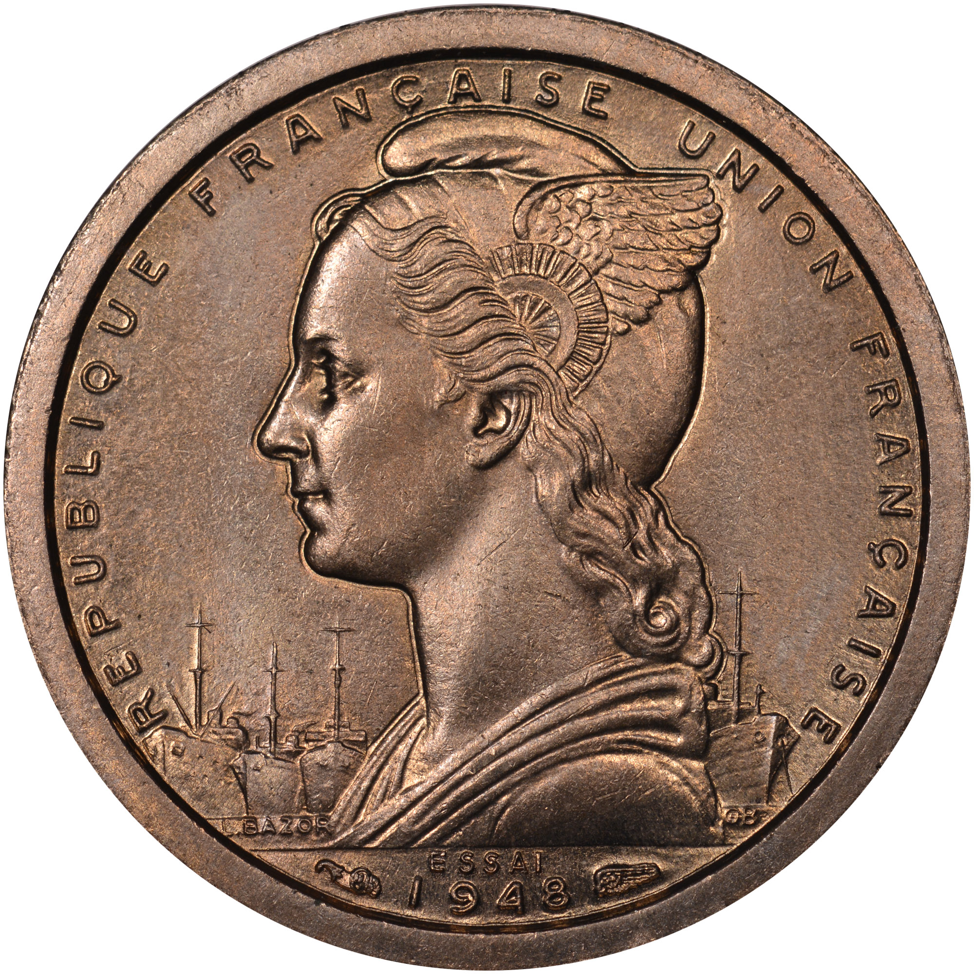 1948 Cameroon Franc obverse