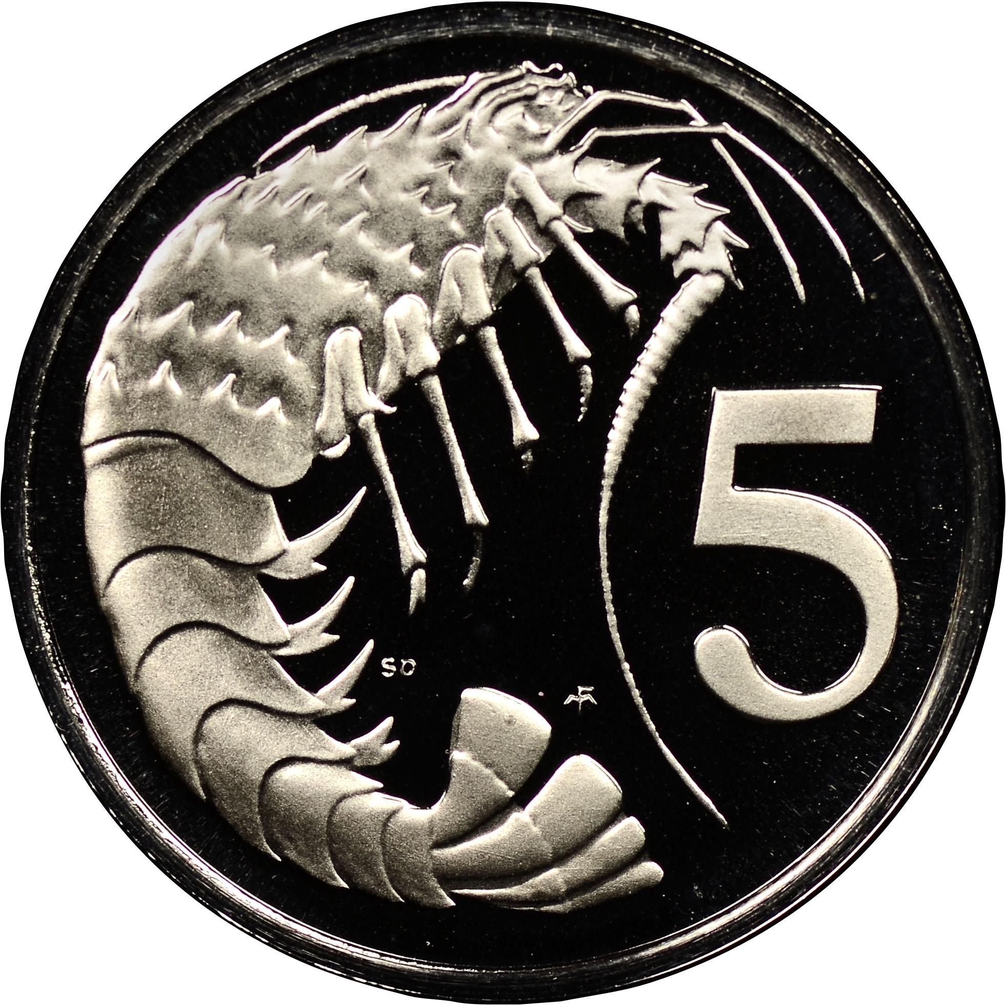 Cayman Islands 5 Cents reverse