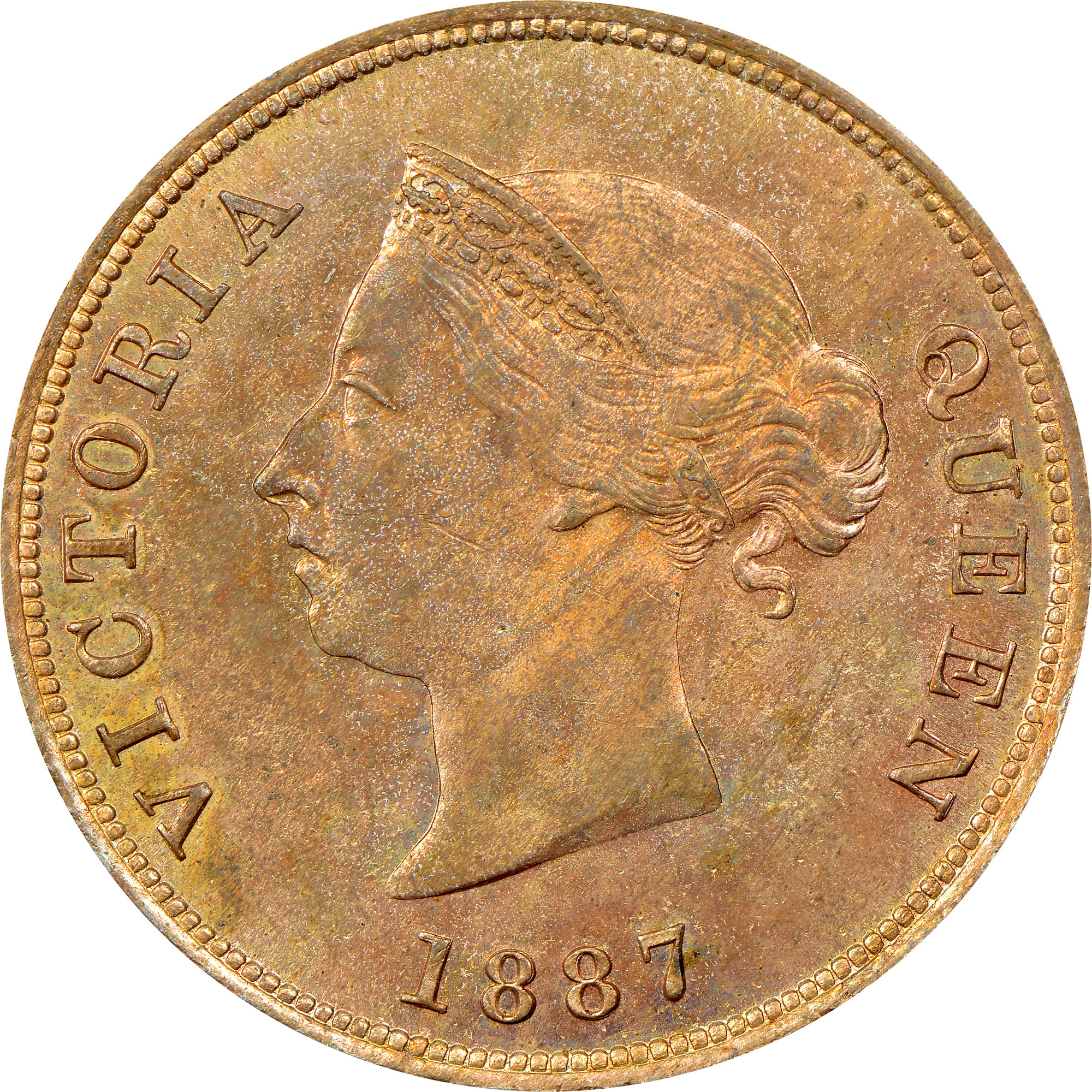 1879-1900 Cyprus 1/2 Piastre obverse