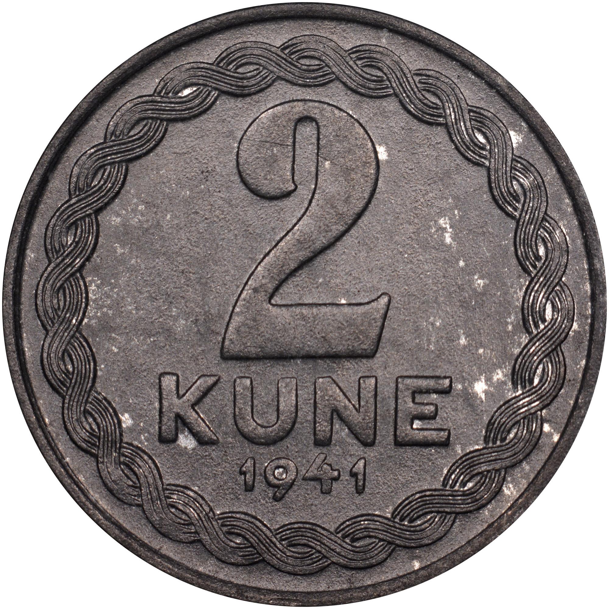 1941 Croatia 2 Kune reverse