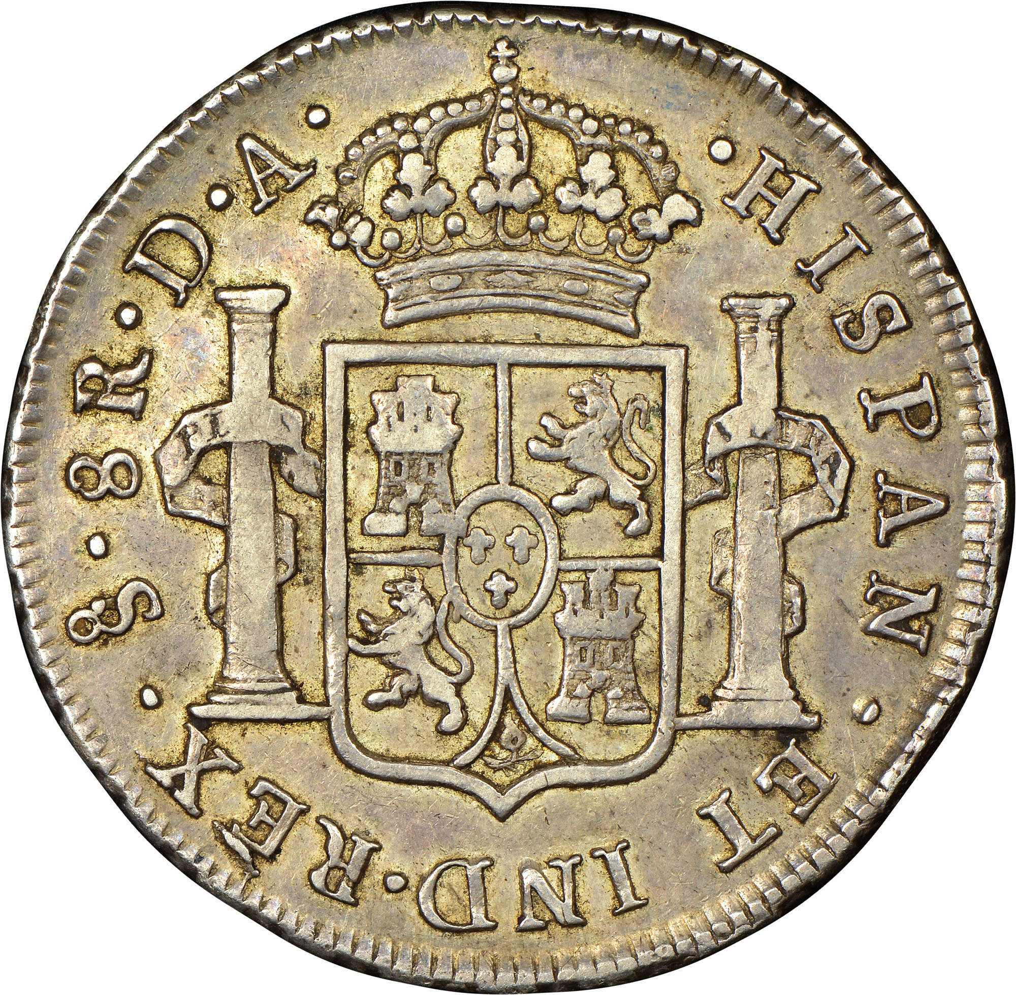 1773-1789/8 Chile 8 Reales reverse