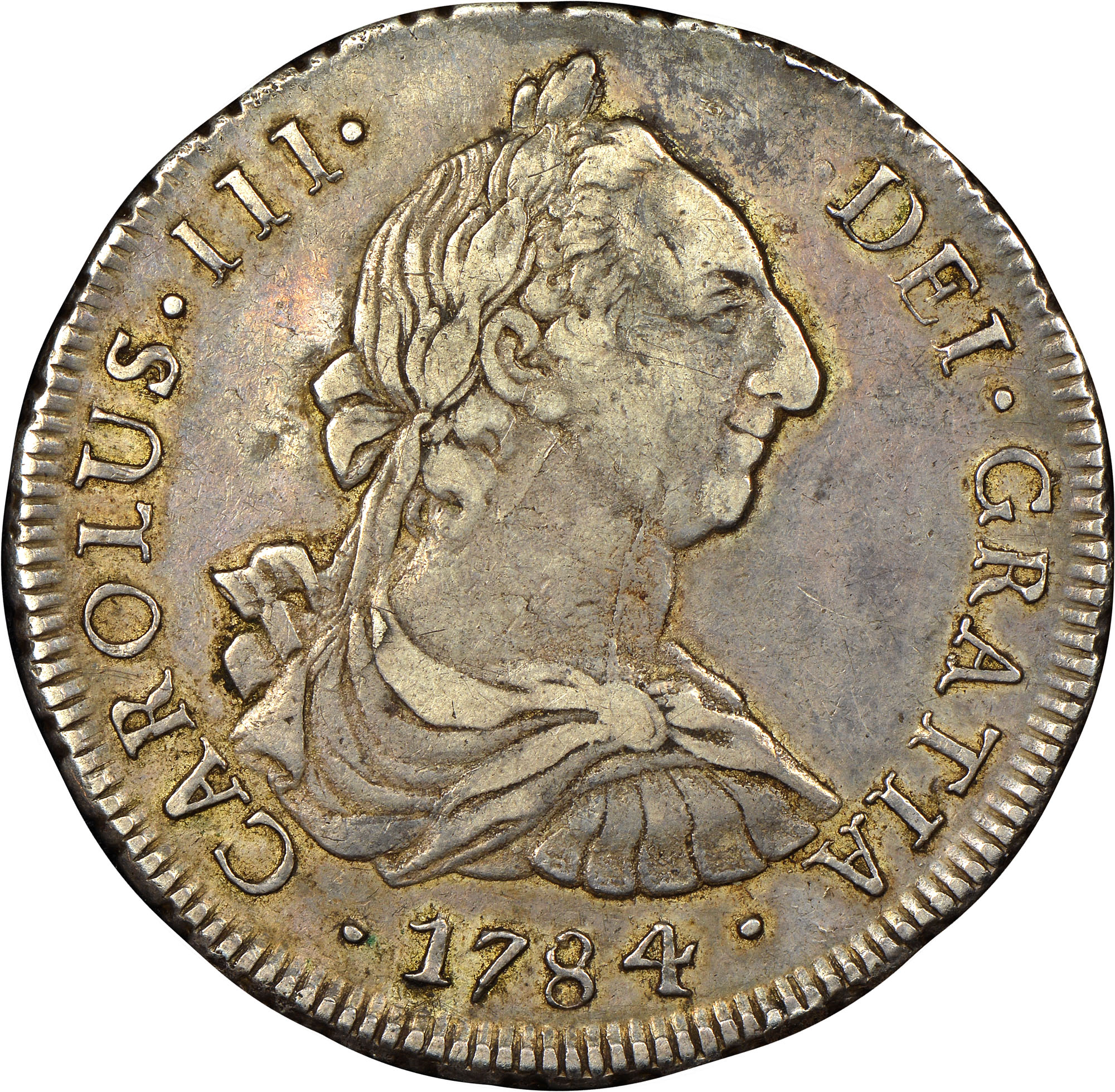 1773-1789/8 Chile 8 Reales obverse