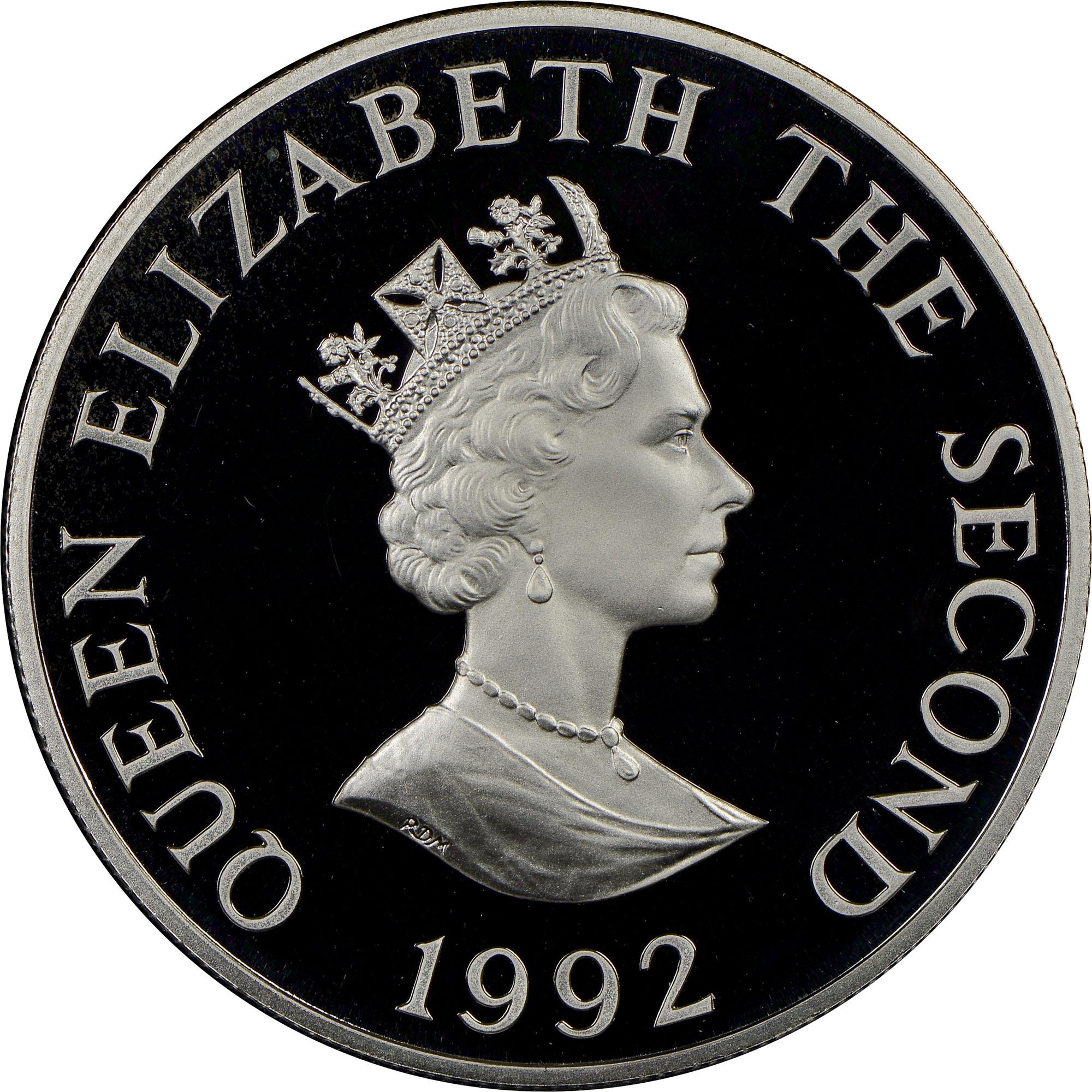 1992 Alderney 2 Pounds obverse