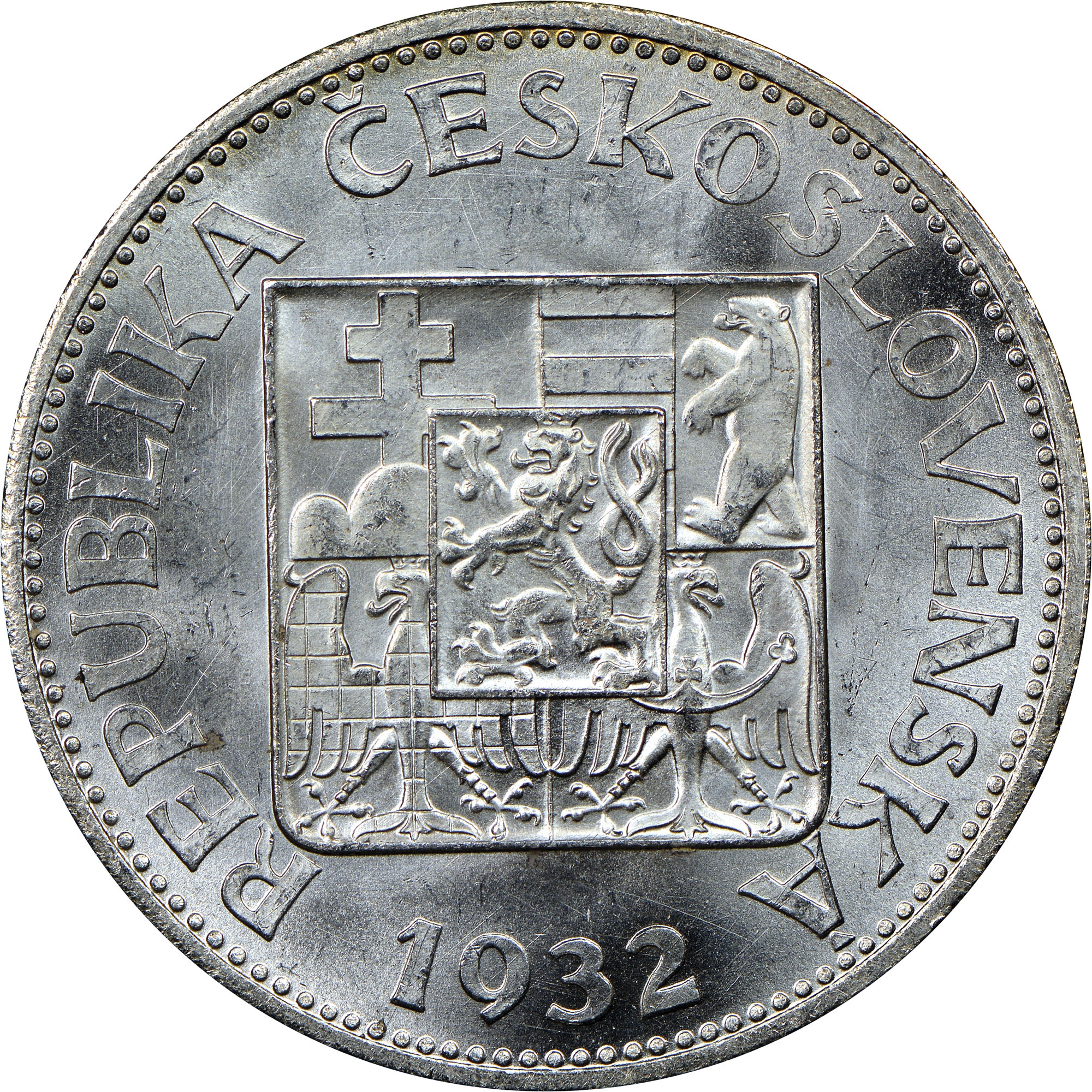1930-1933 Czechoslovakia 10 Korun obverse