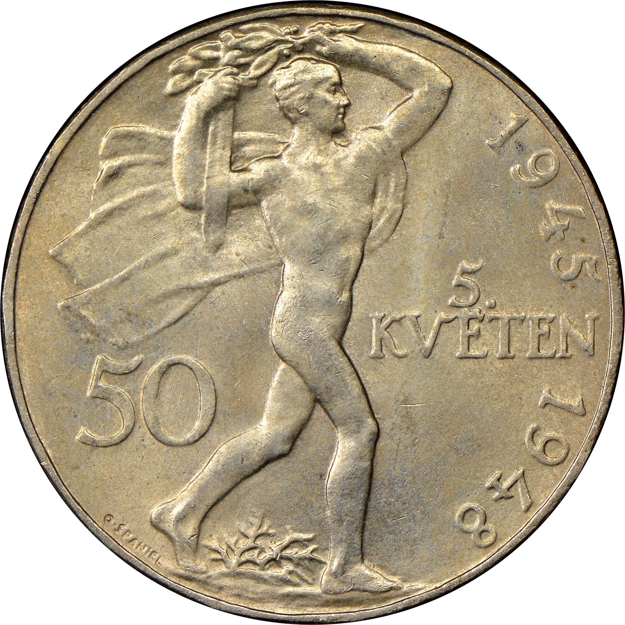 Czechoslovakia 50 Korun reverse