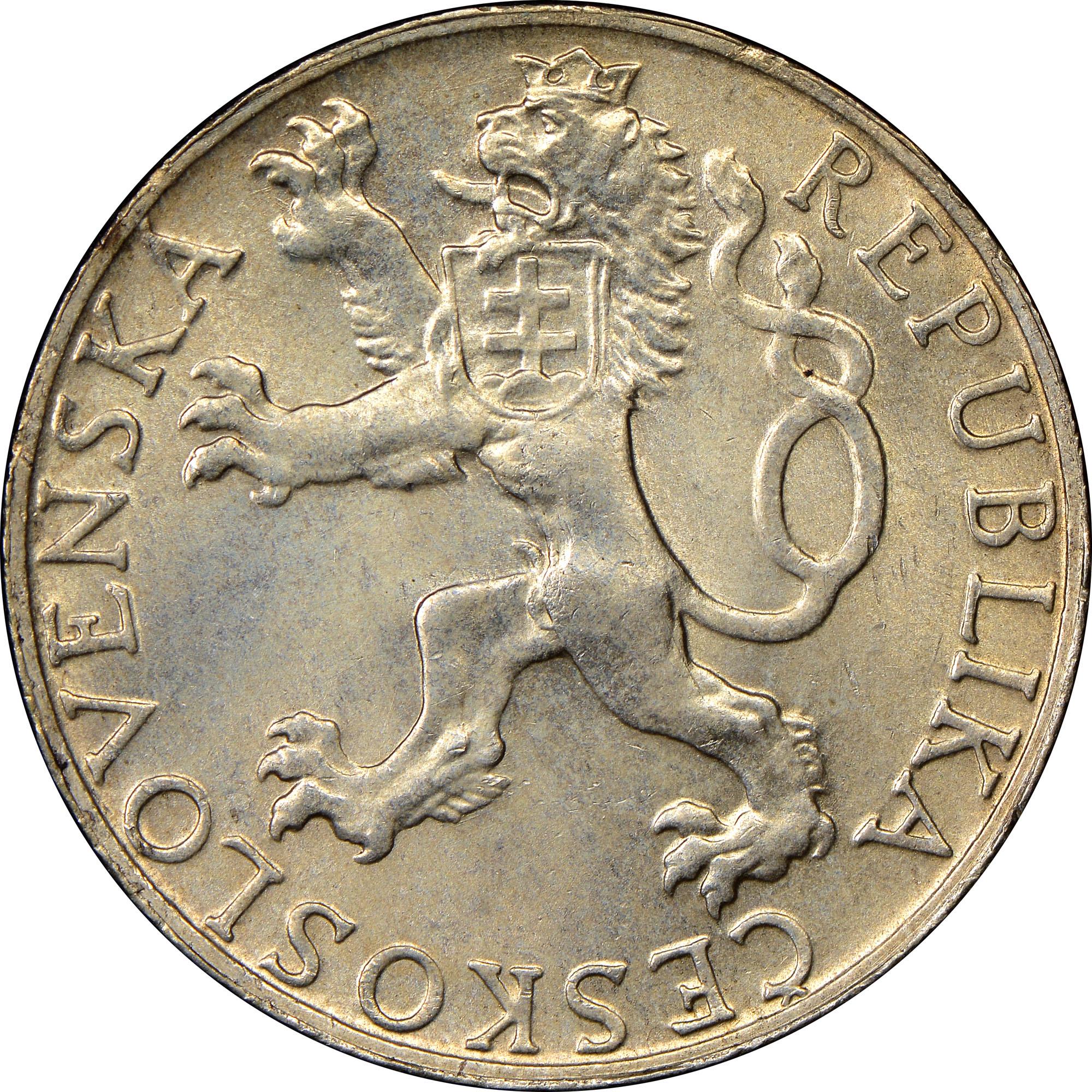 Czechoslovakia 50 Korun obverse