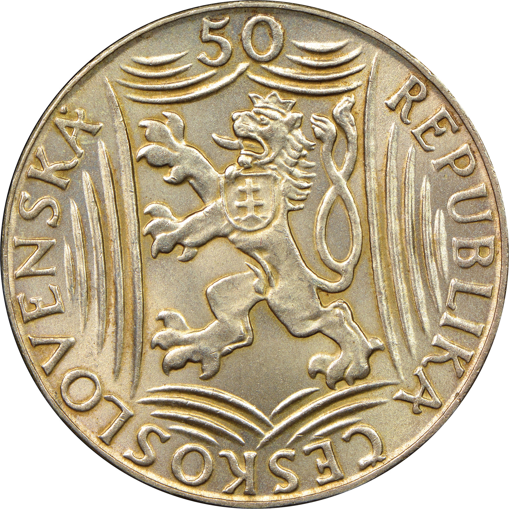 (1949) Czechoslovakia 50 Korun obverse