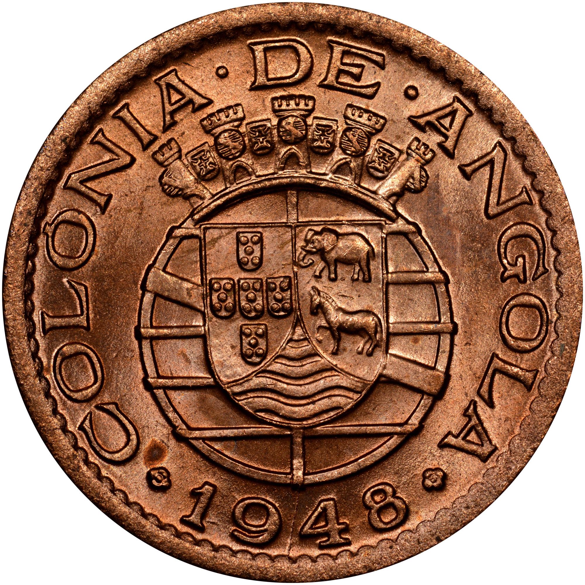 1948-1949 Angola 20 Centavos reverse