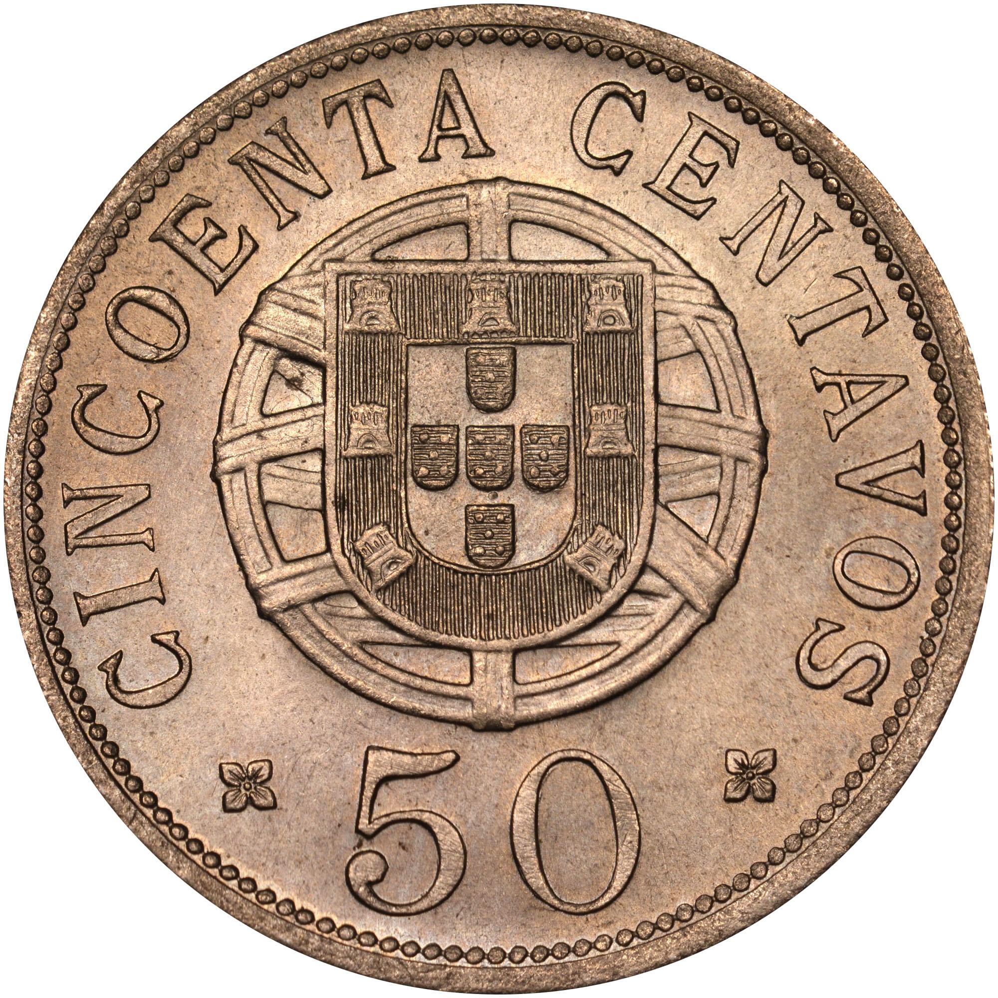 1927-1928/7 Angola 50 Centavos reverse