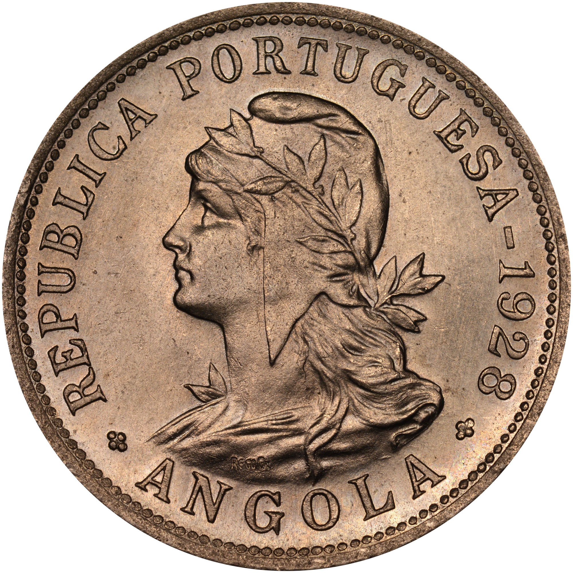 1927-1928/7 Angola 50 Centavos obverse