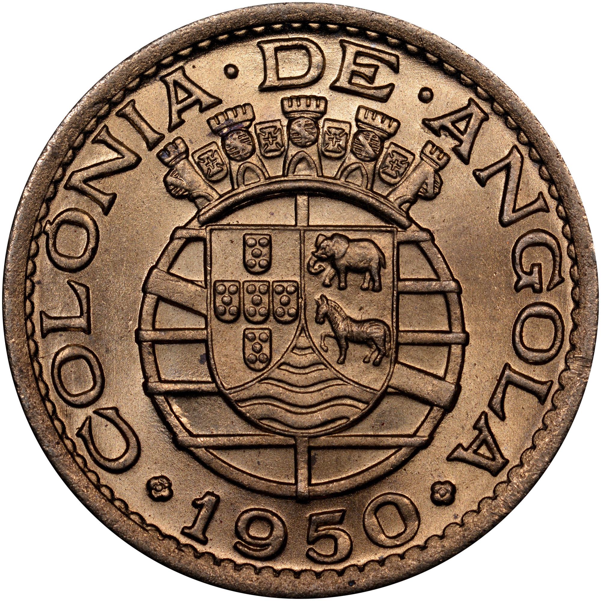 1948-1950 Angola 50 Centavos reverse