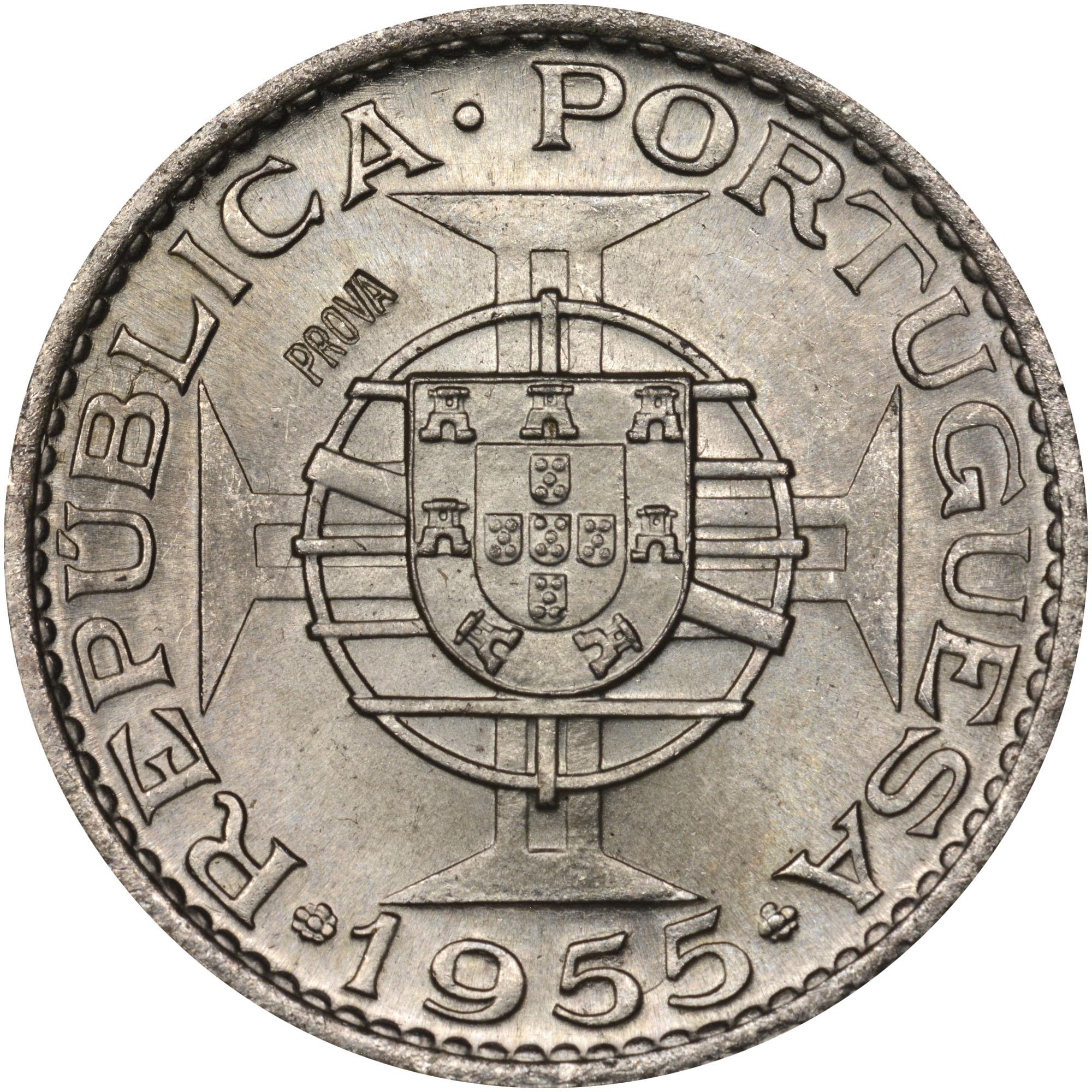 1955 Angola 10 Escudos obverse