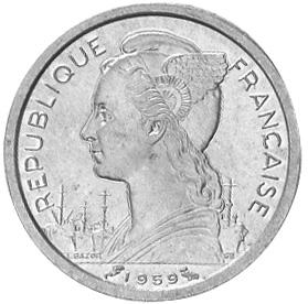 French Somaliland Franc obverse
