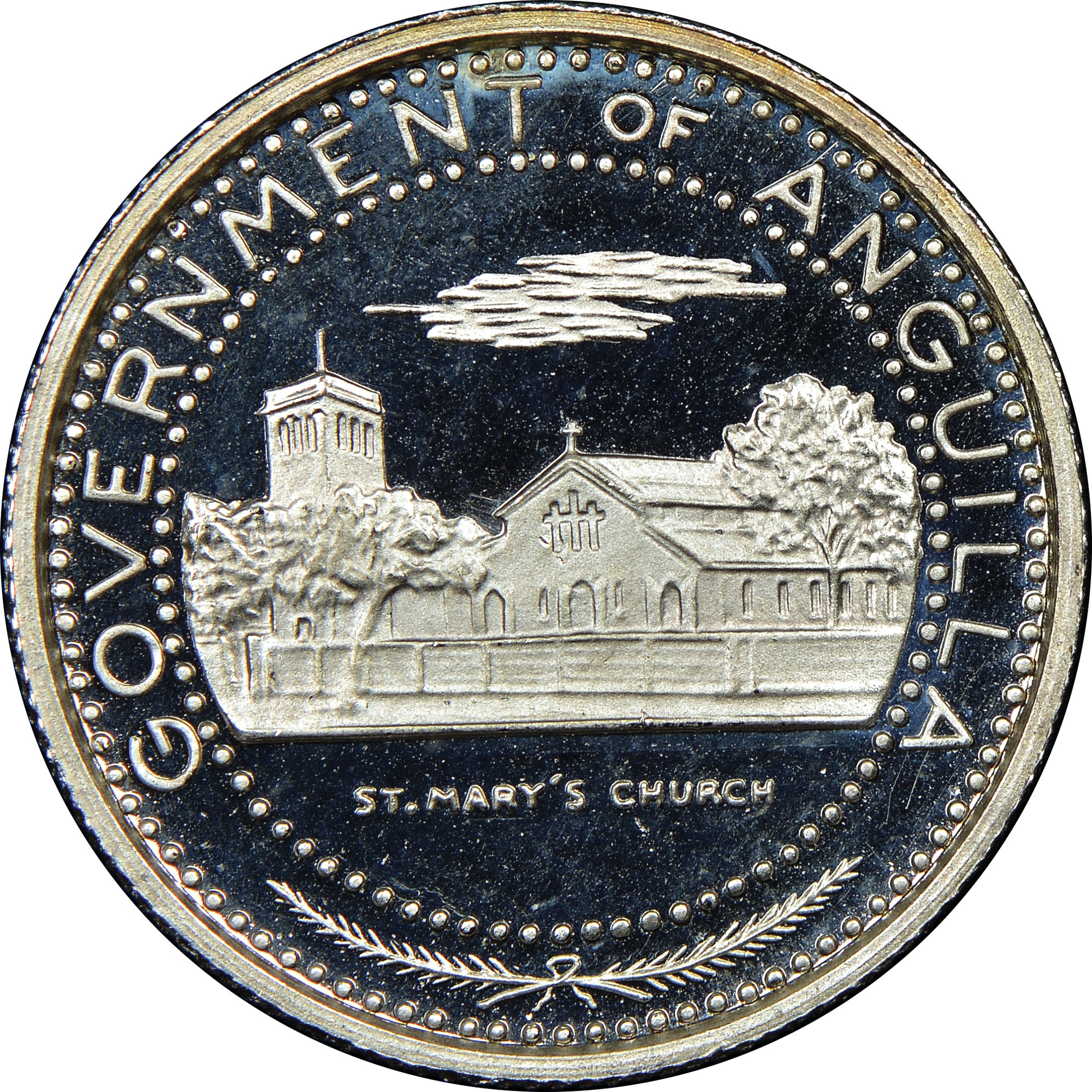 1969-ND Anguilla 1/2 Dollar obverse