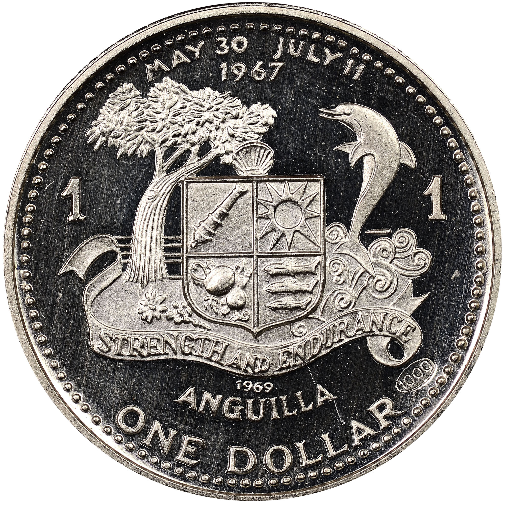 1969-ND Anguilla Dollar reverse