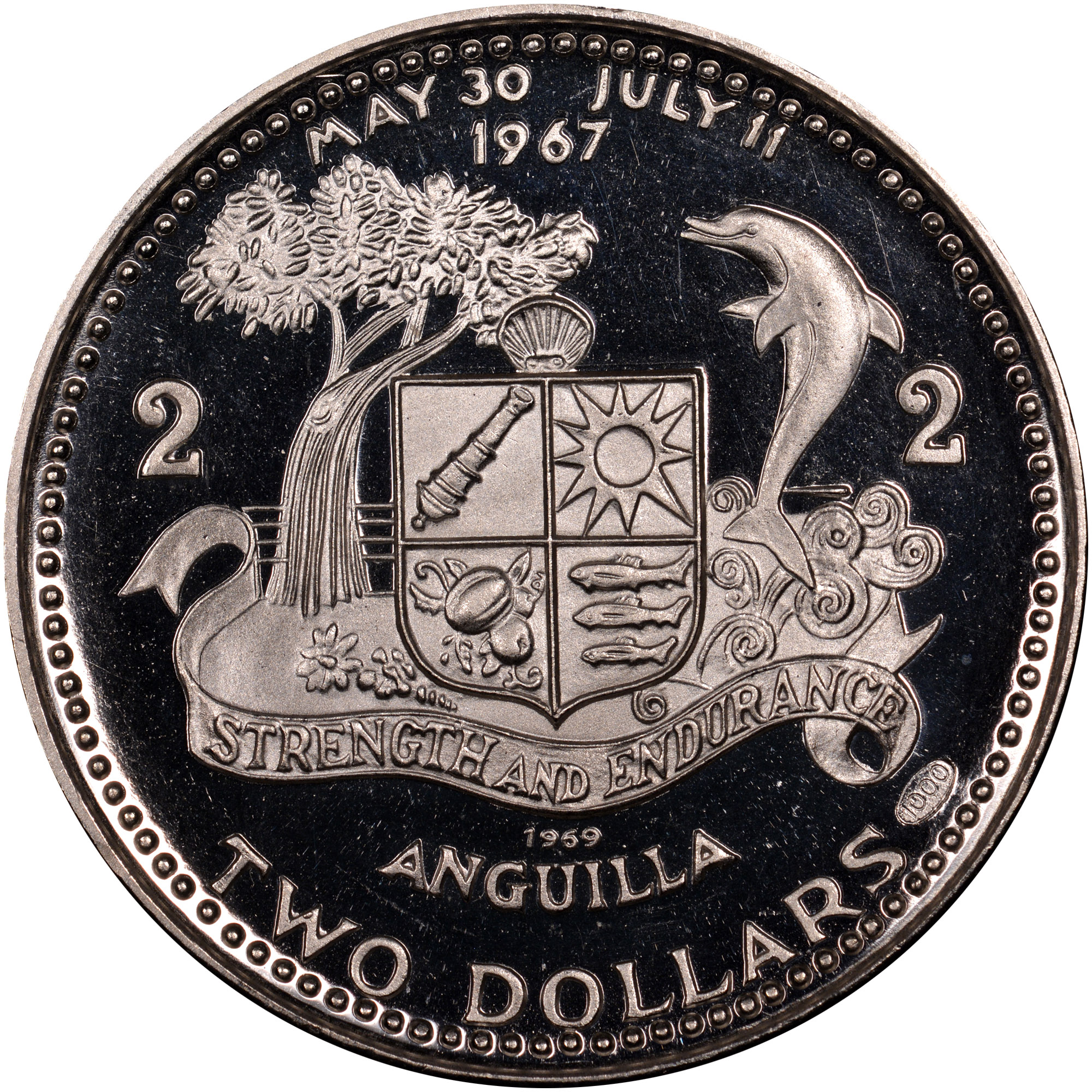 1969-ND Anguilla 2 Dollars reverse