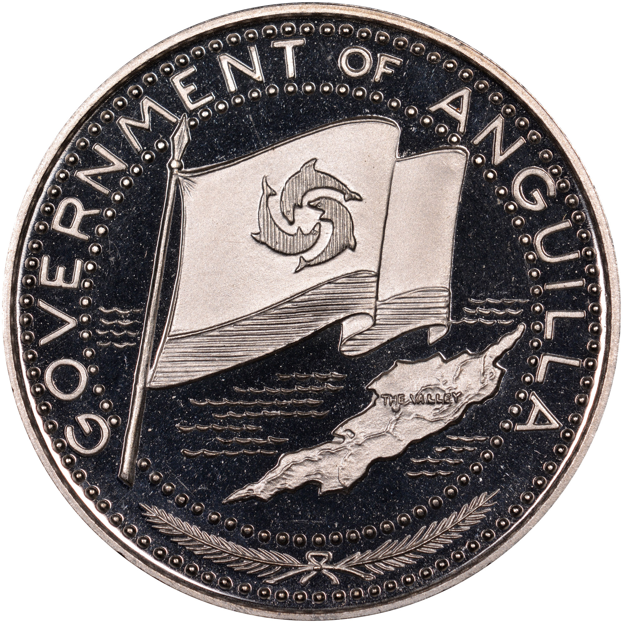 1969-ND Anguilla 2 Dollars obverse