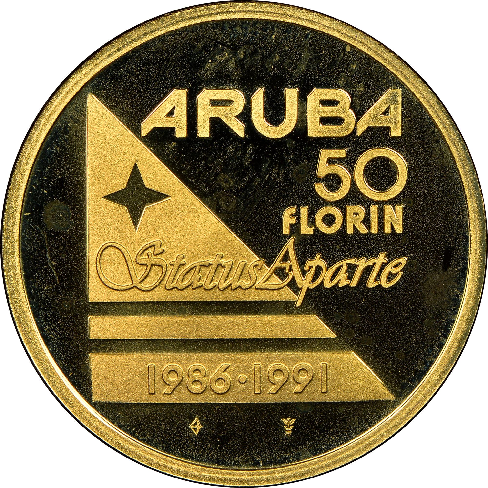 ND(1991) Aruba 50 Florin reverse