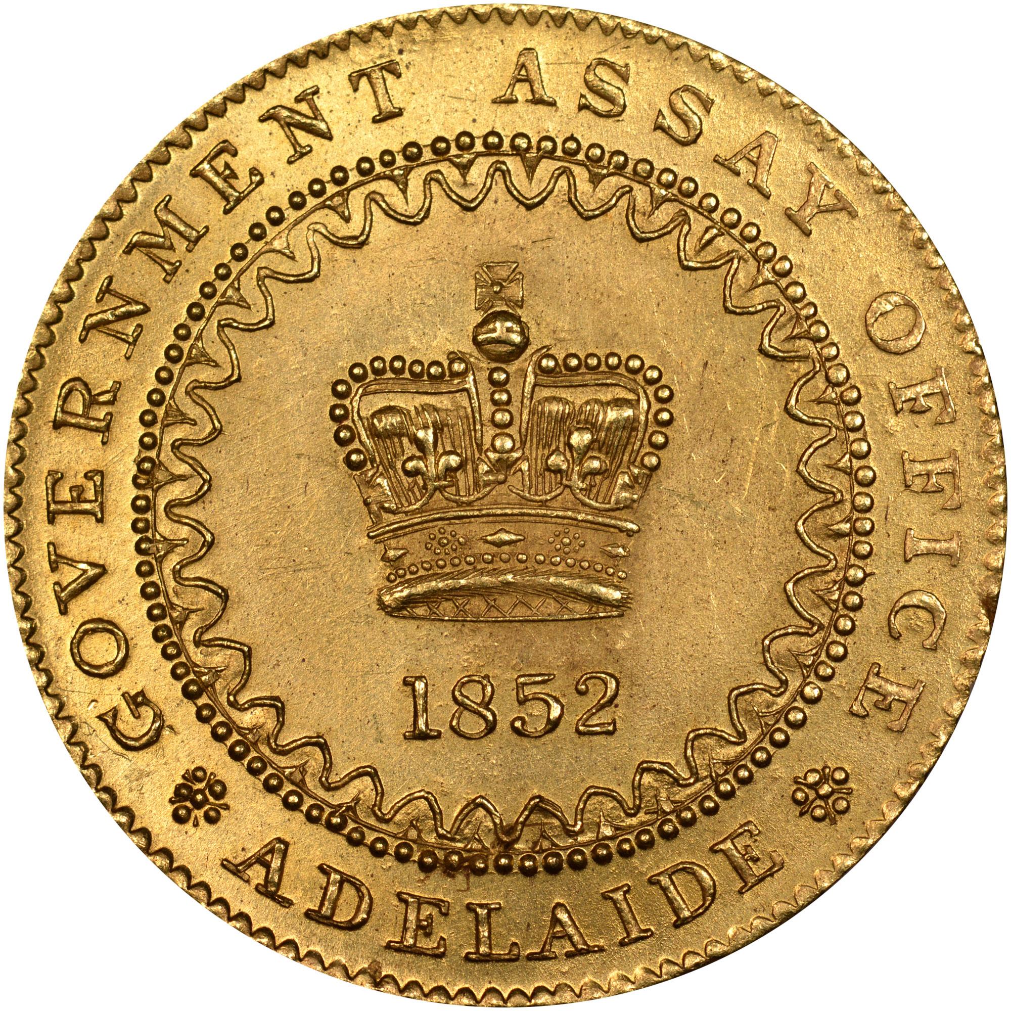 1852 Australia SOUTH AUSTRALIA Adelaide Pound obverse