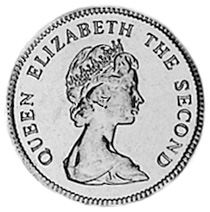 Falkland Islands 5 Pence obverse
