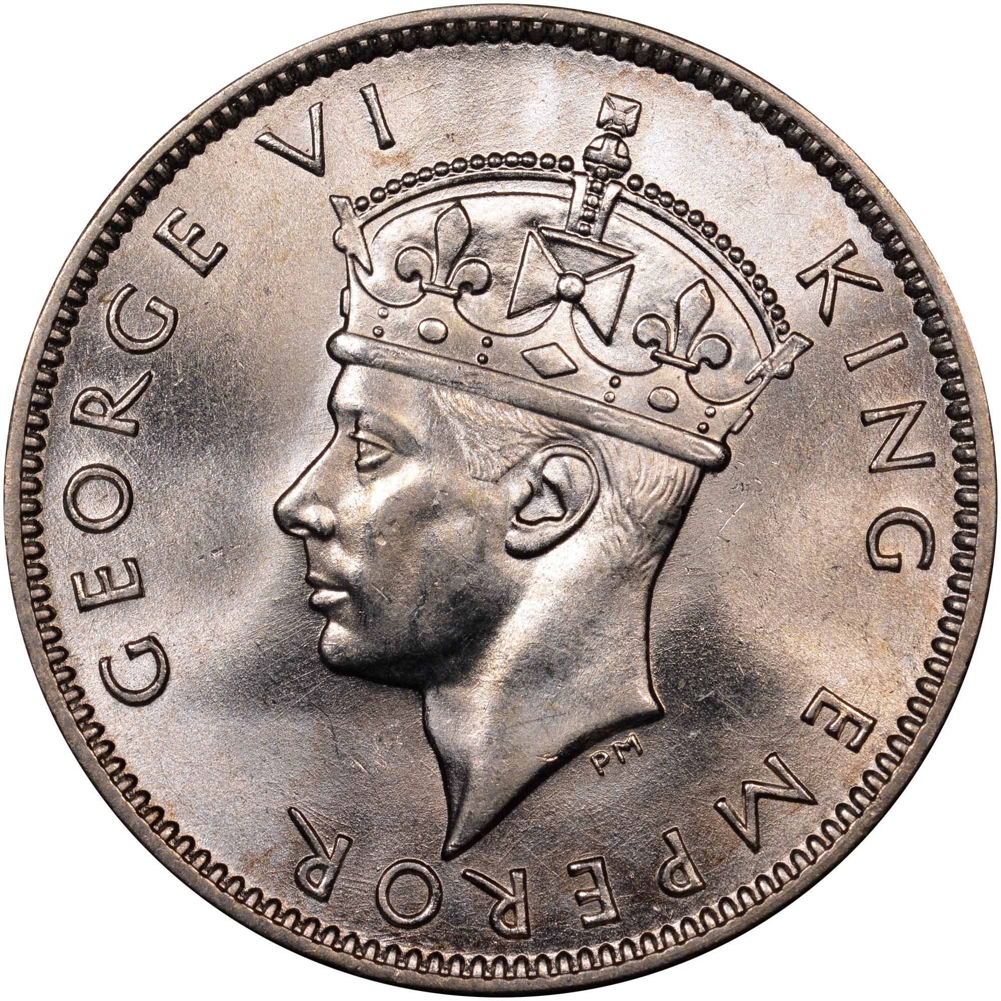 1942-1943 Fiji Shilling obverse