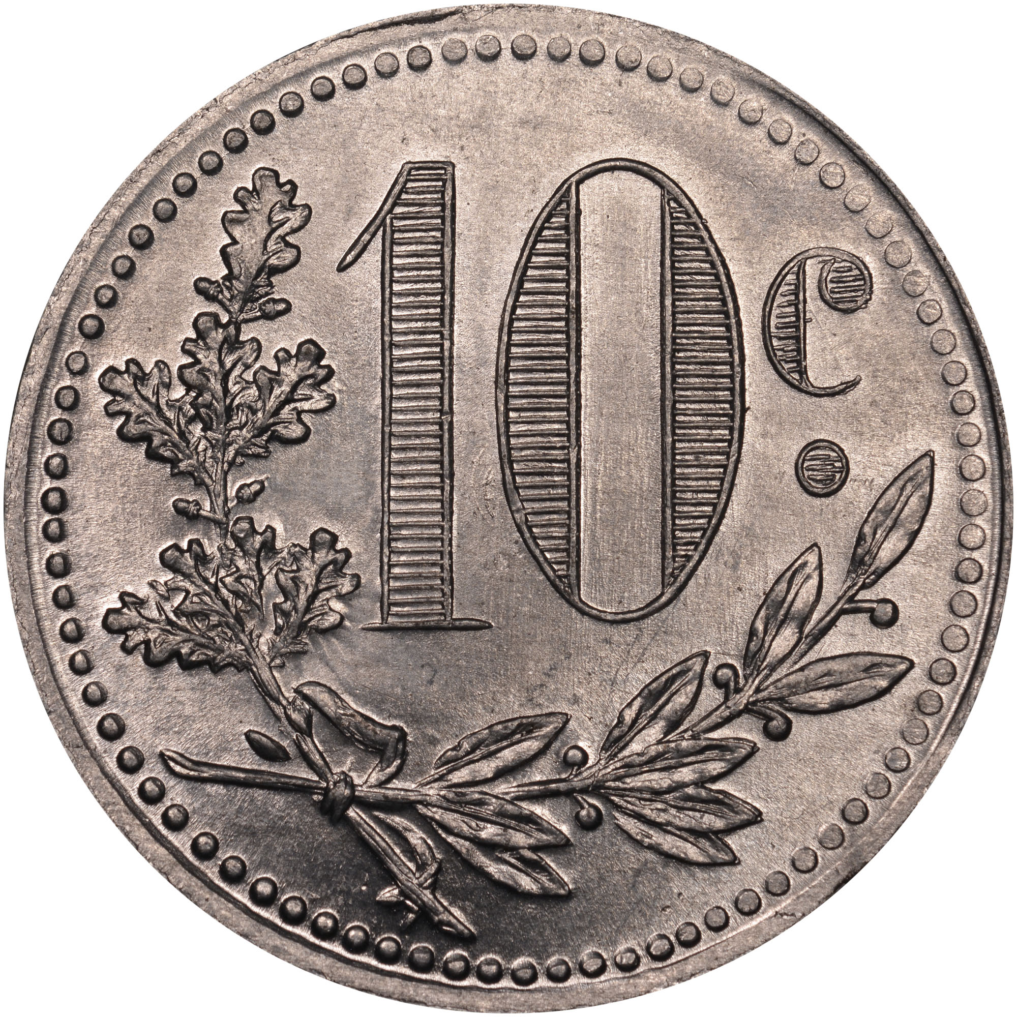 1916-1921 Algeria 10 Centimes reverse