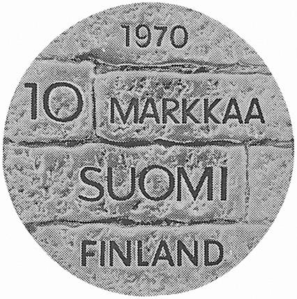 Finland 10 Markkaa obverse