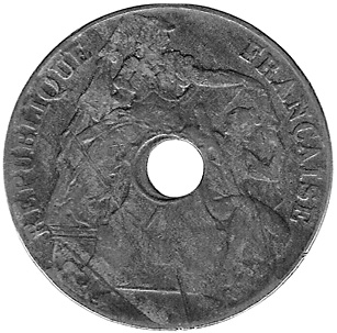 French Indo-China Cent obverse