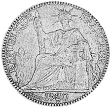 French Indo-China 10 Cents obverse