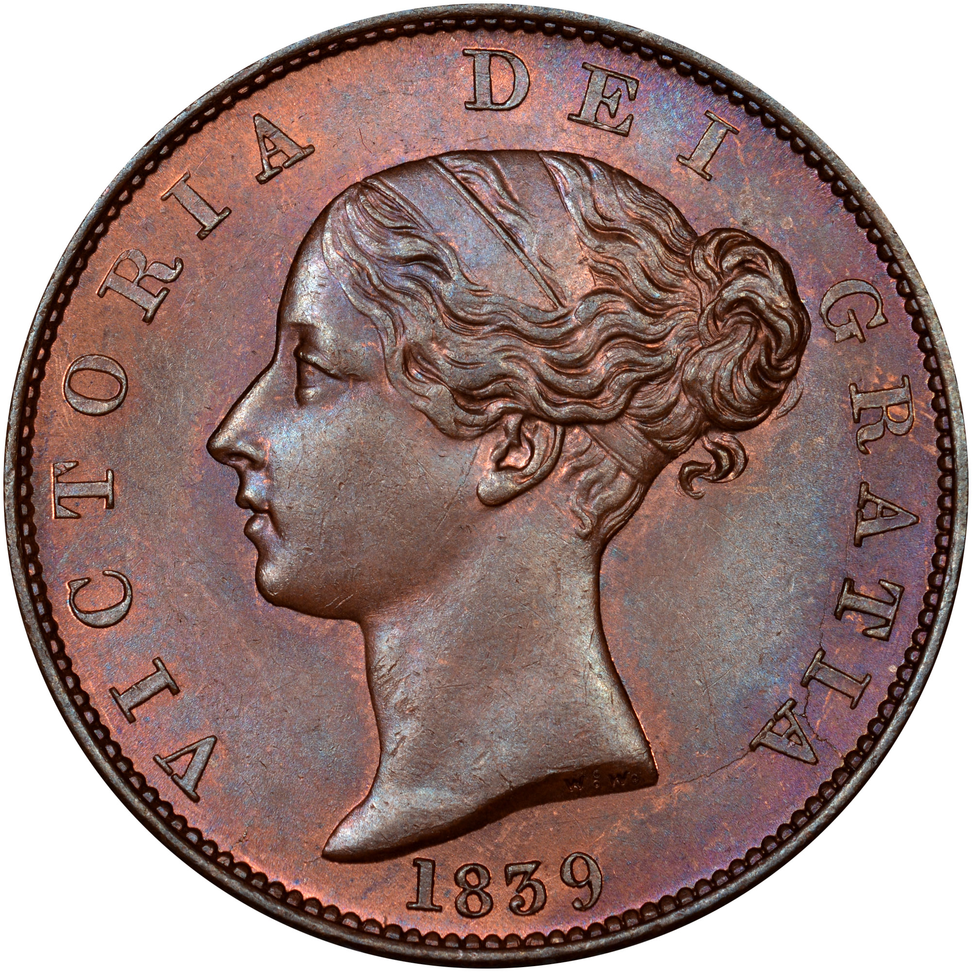 Isle Of Man 1/2 Penny obverse