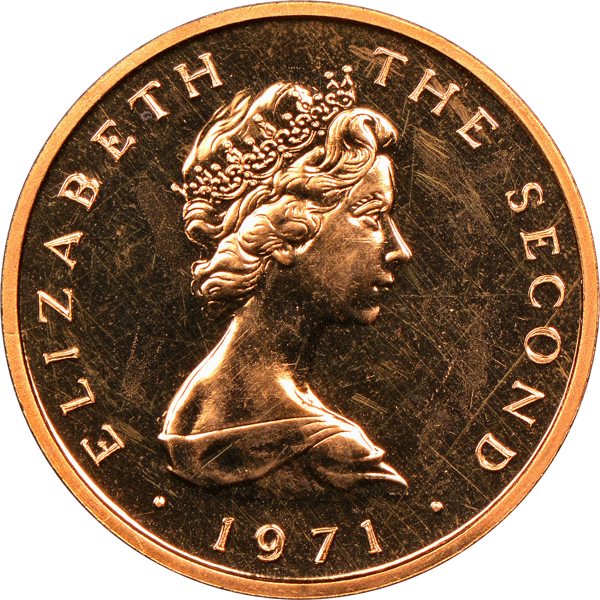 Isle Of Man New Penny obverse