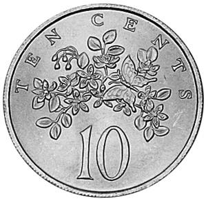 1969-1989 Jamaica 10 Cents reverse