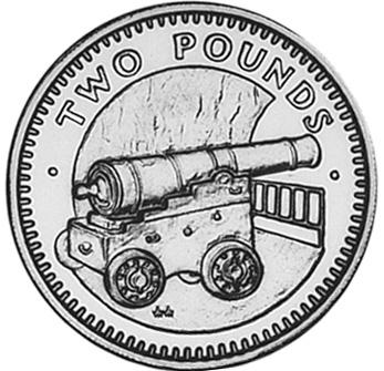 Gibraltar 2 Pounds reverse