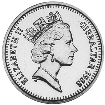 Gibraltar 2 Pounds obverse