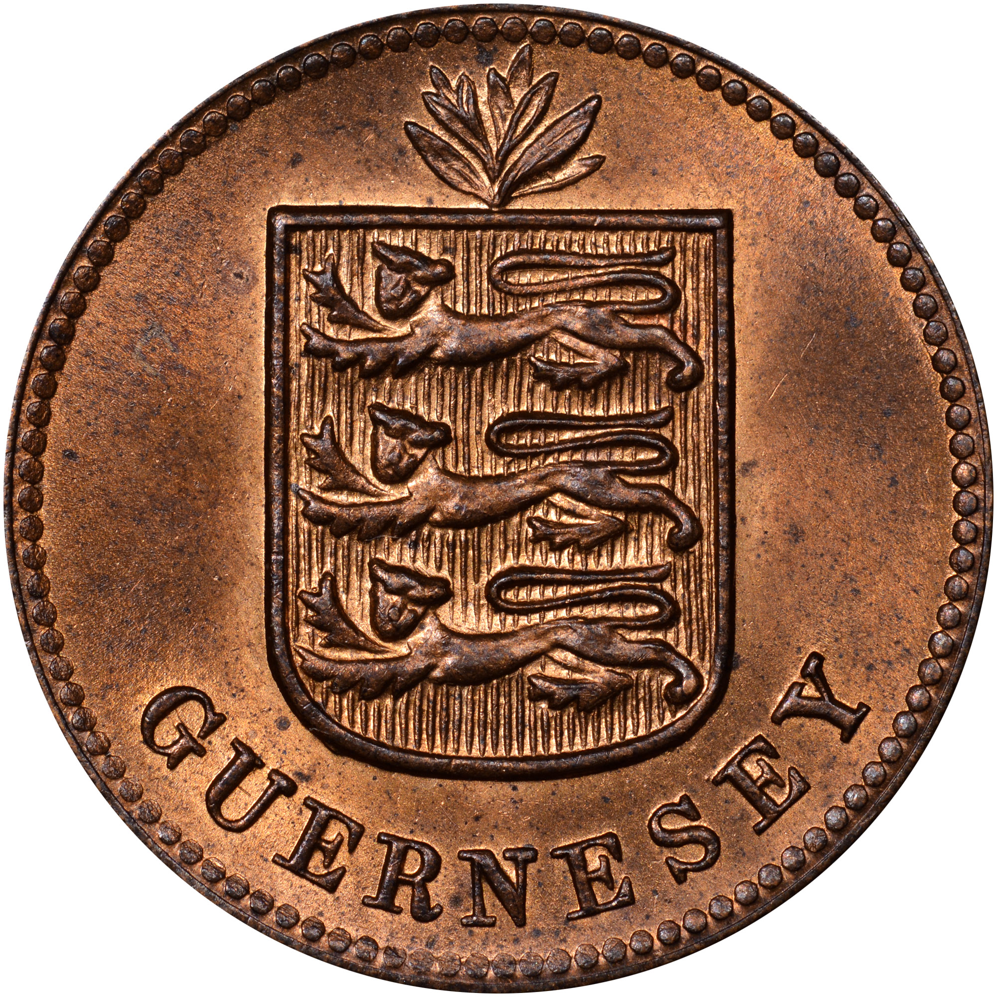 Guernsey Double obverse