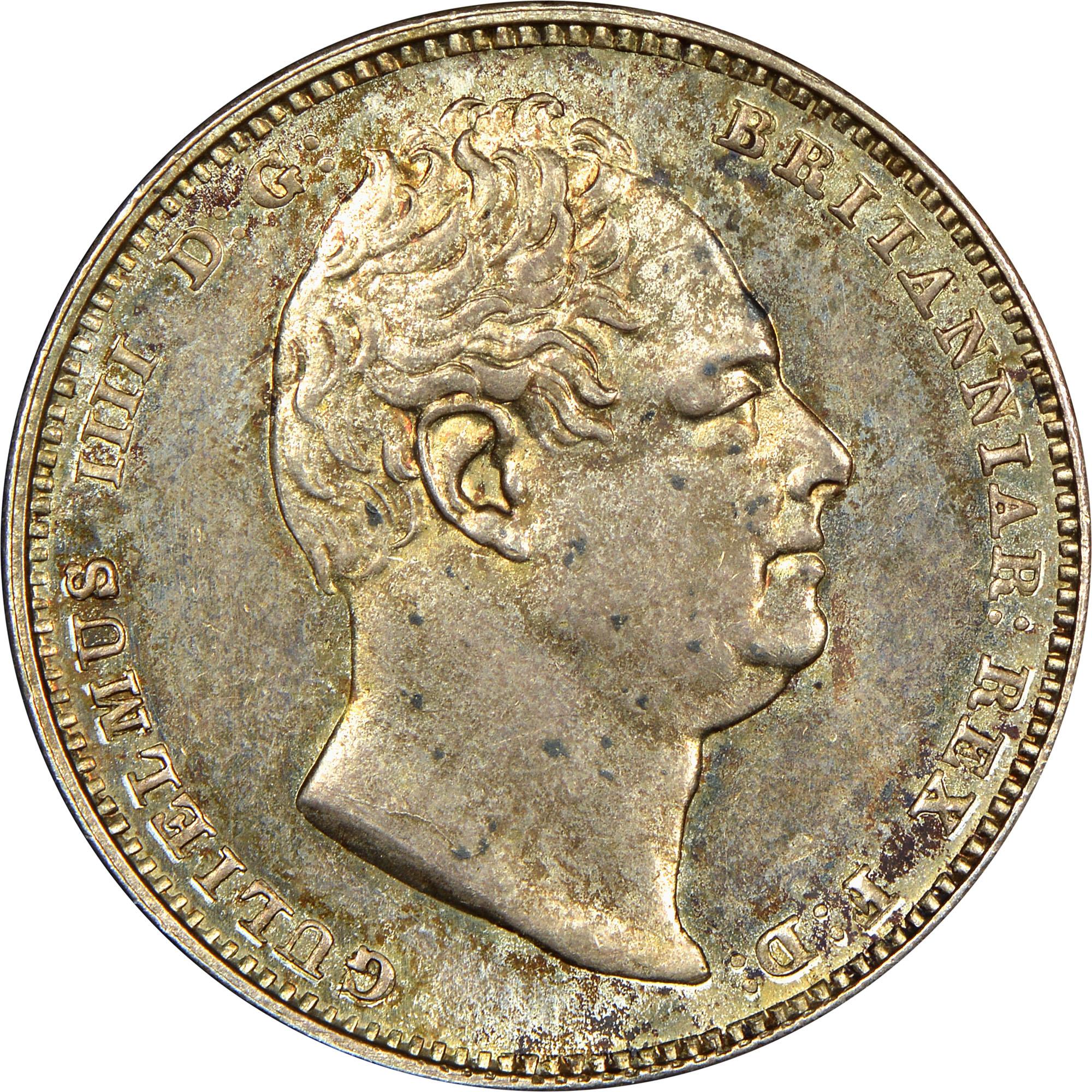 1836 Guyana 1/2 Guilder obverse